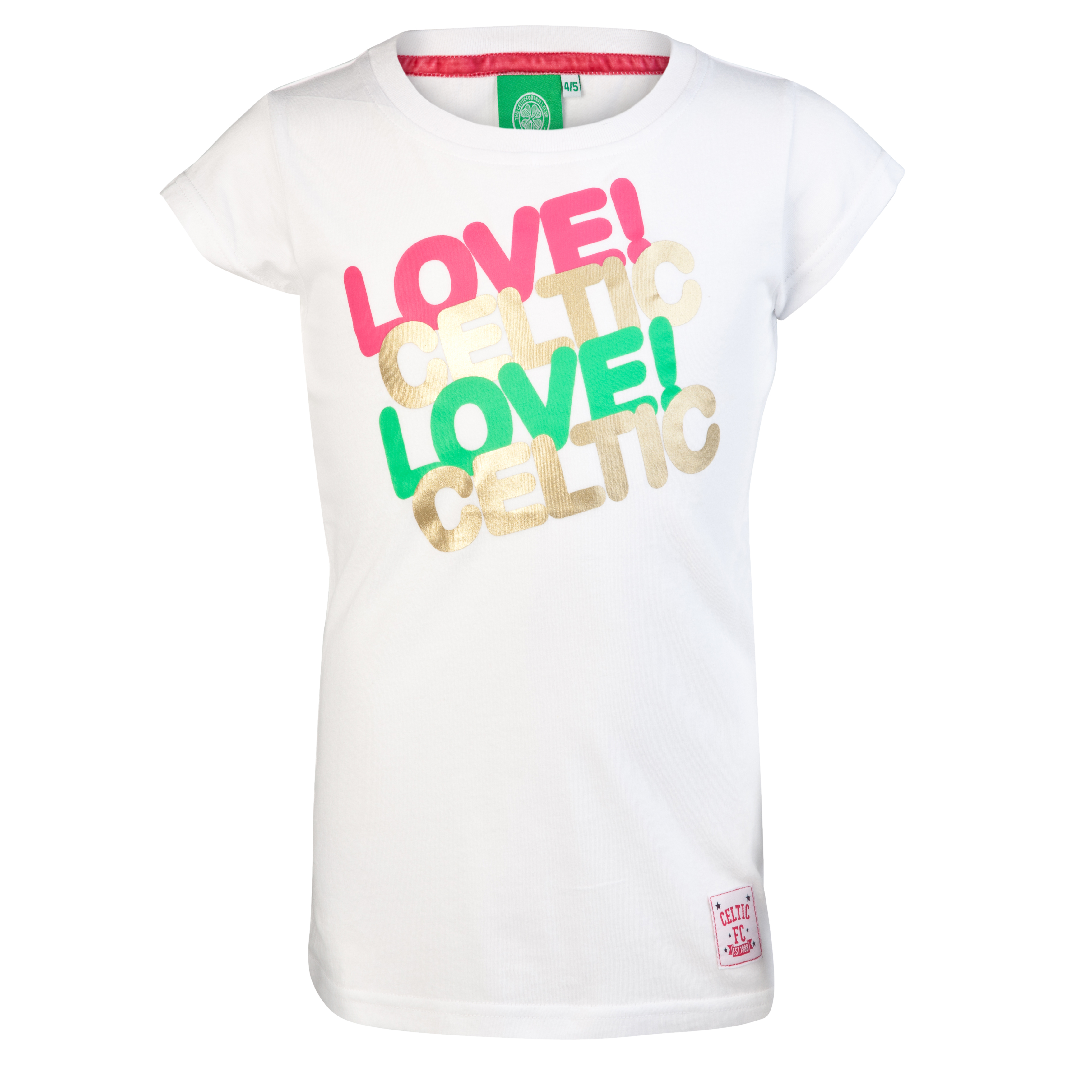 Celtic Love Graphic T-Shirt - White - Girls