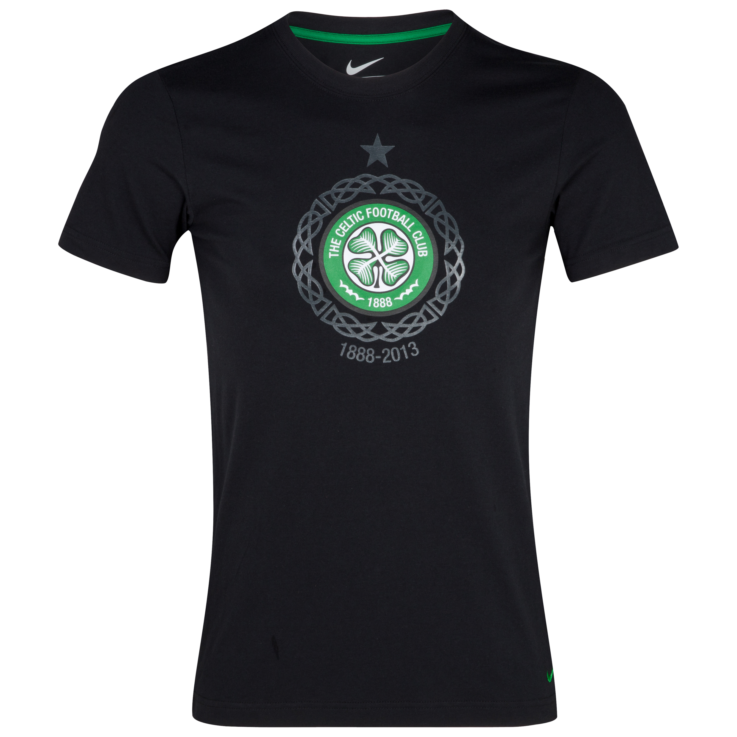 Celtic Core T-Shirt - Black/Victory Green