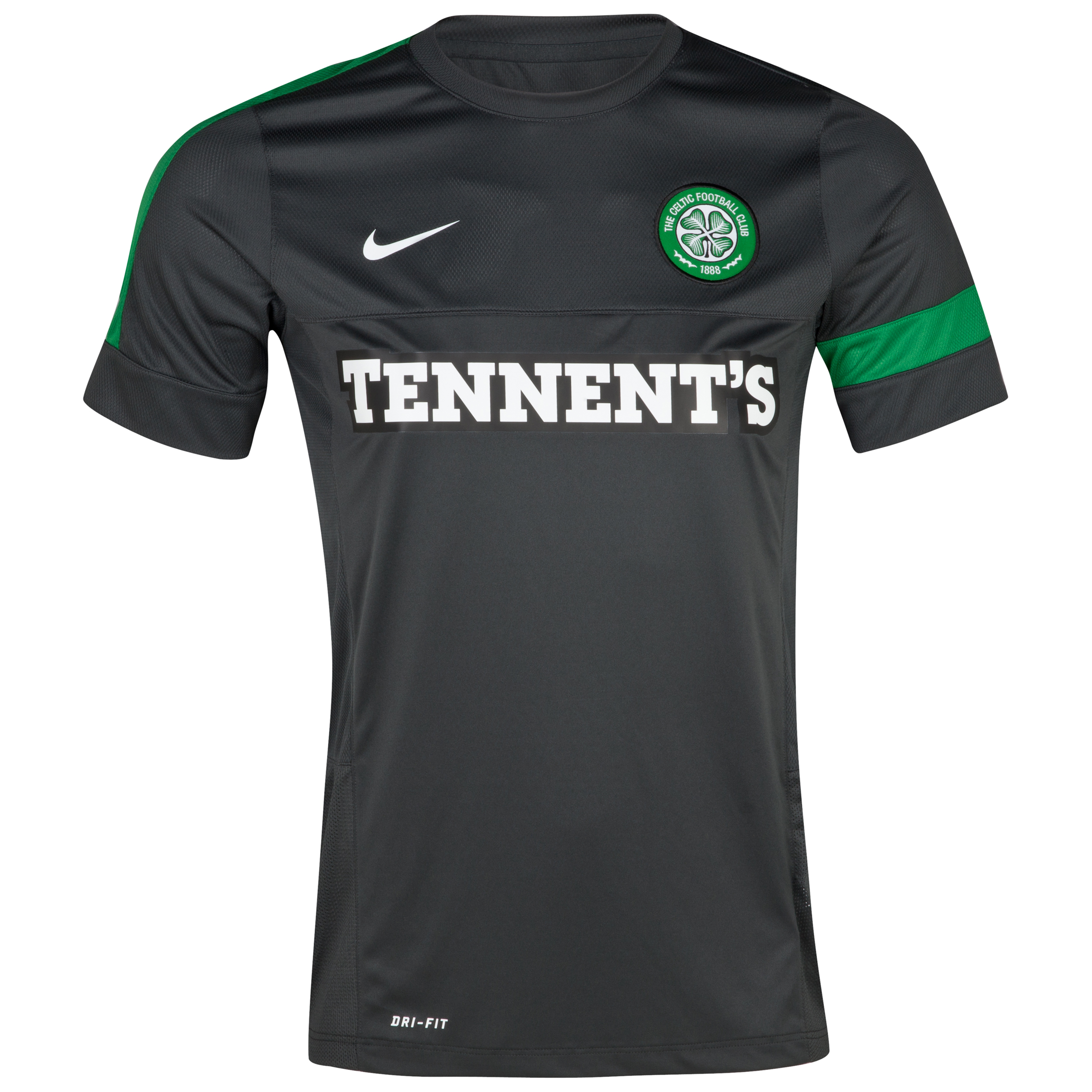 Celtic Short Sleeve Training Top 1 - Anthracite/Anthracite/White