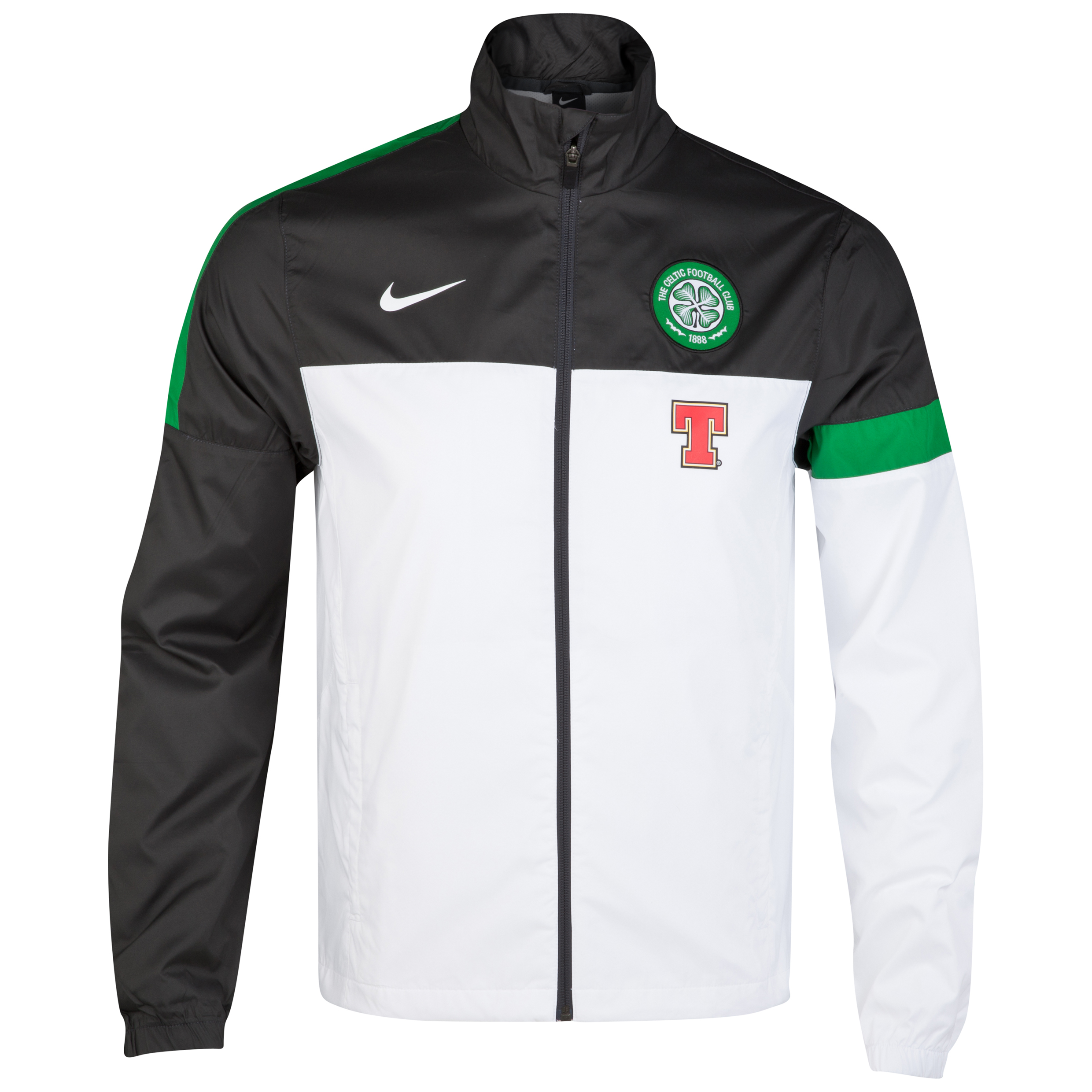 Celtic Woven Sideline Jacket - White/Anthracite/Victory Green/White