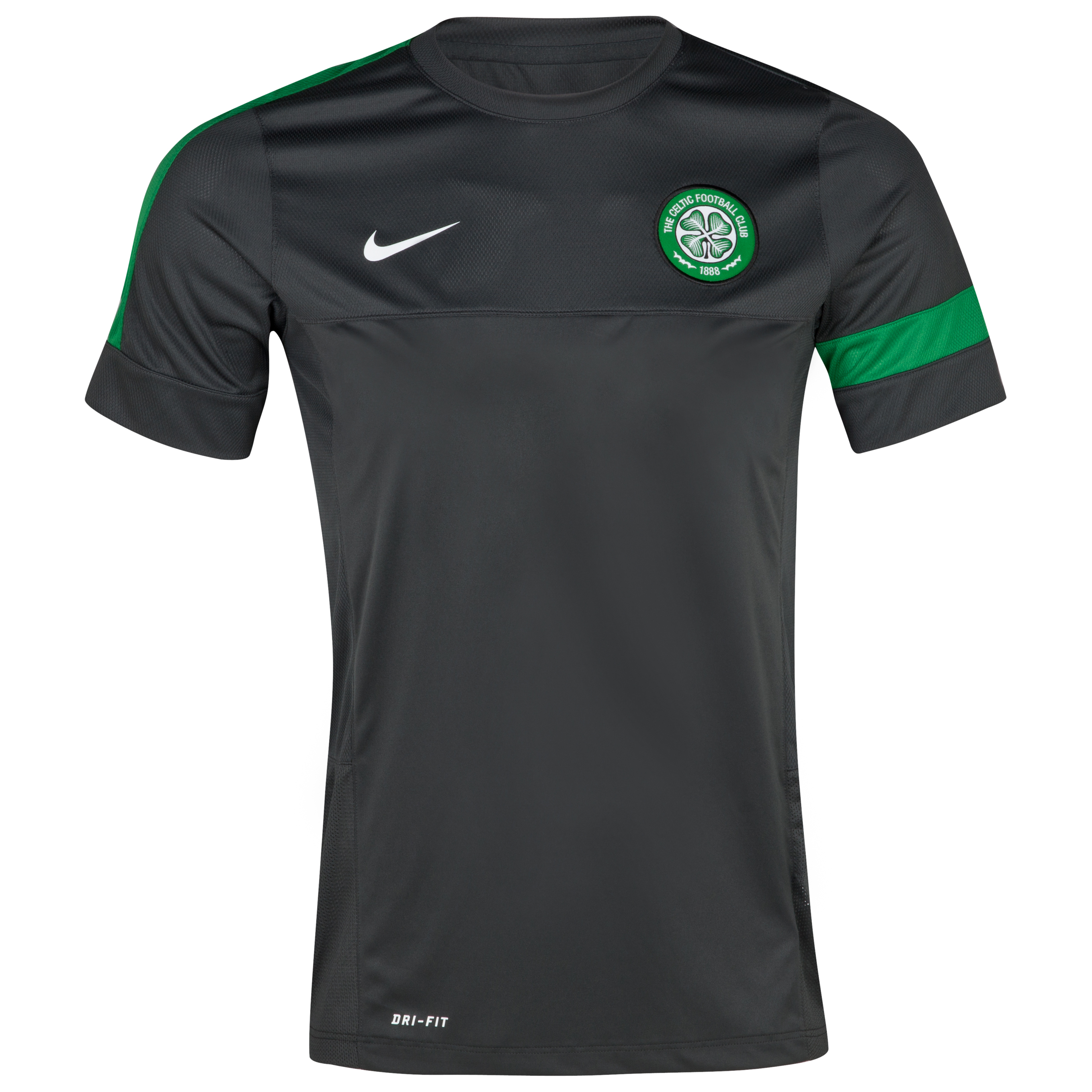 Celtic Short Sleeve Training Top 1 - Anthracite/Anthracite/White - Kids