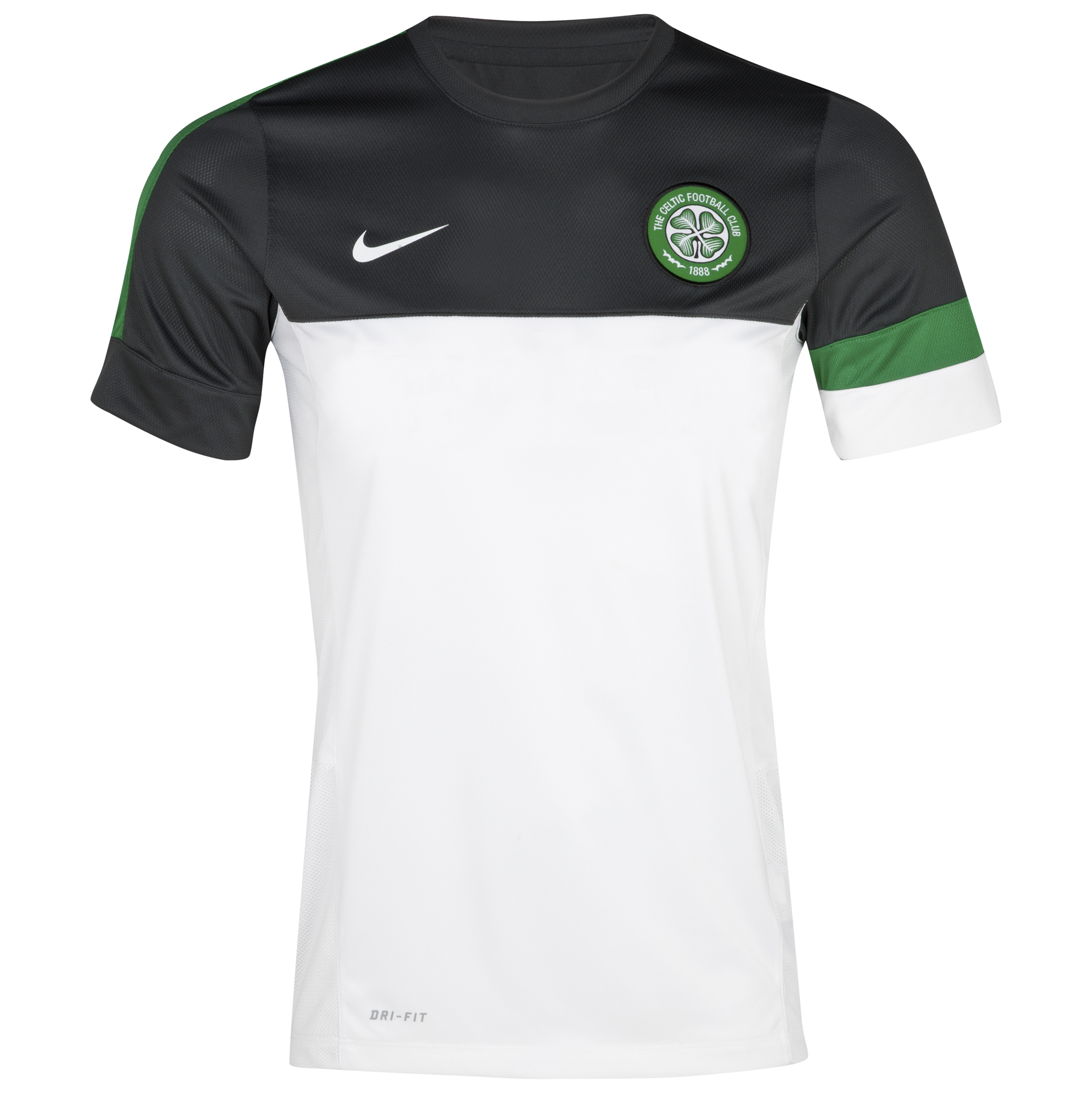 Celtic Short Sleeve Training Top 1 - White/Anthracite/Victory Green/White - Youths
