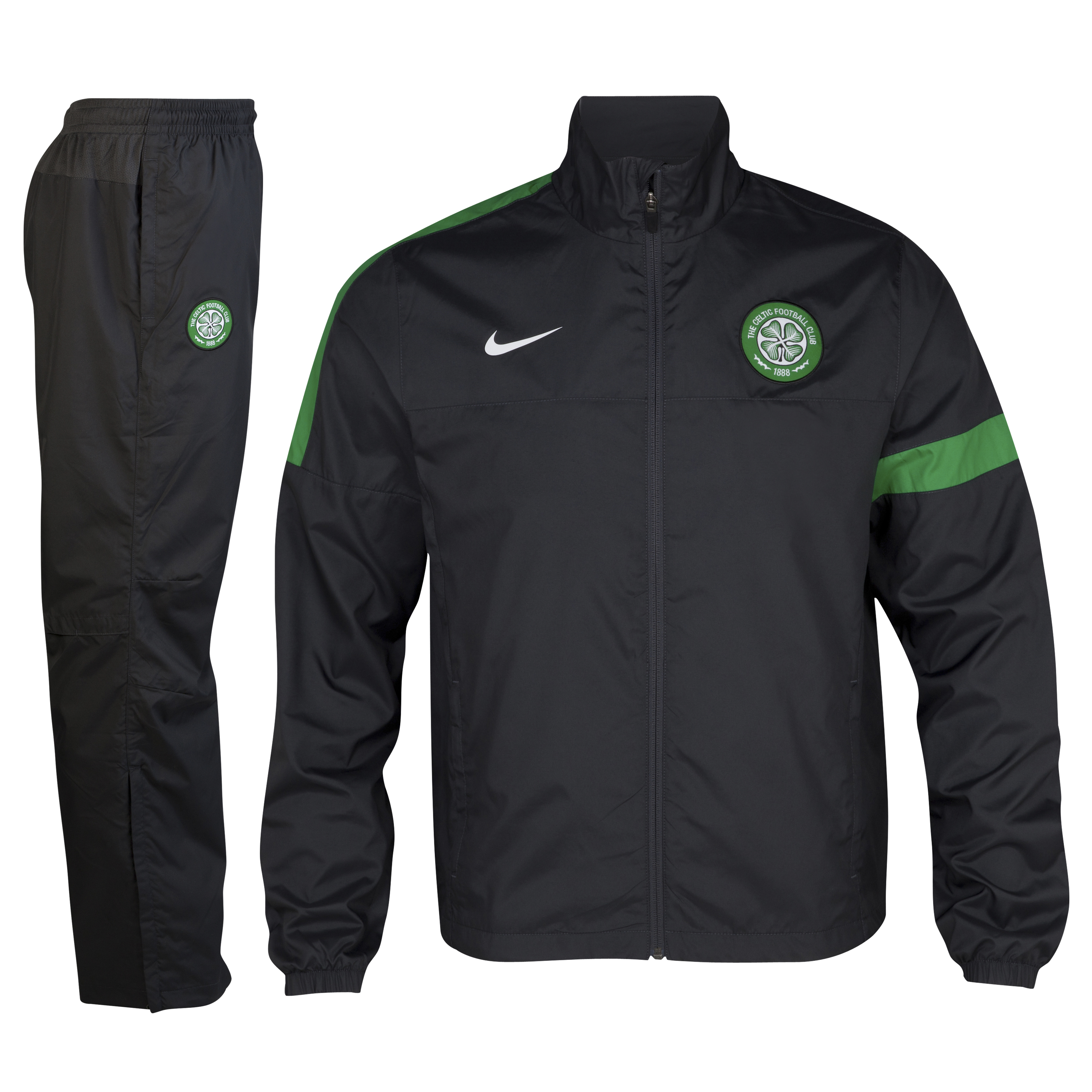 Celtic Sideline Woven Warm Up Tracksuit - Anthracite/Anthracite/White - Youths