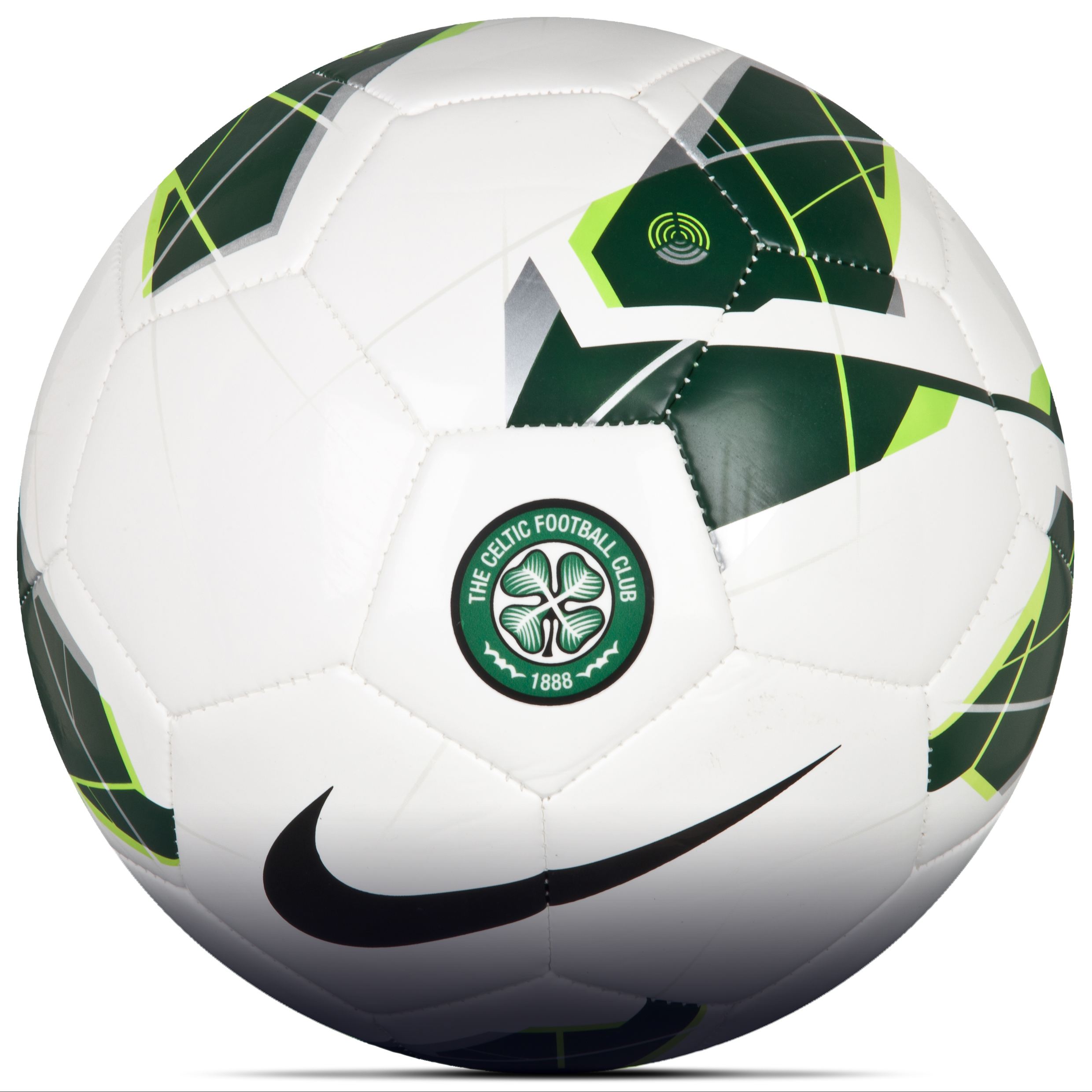 Celtic Custom Strike Football - Green/White
