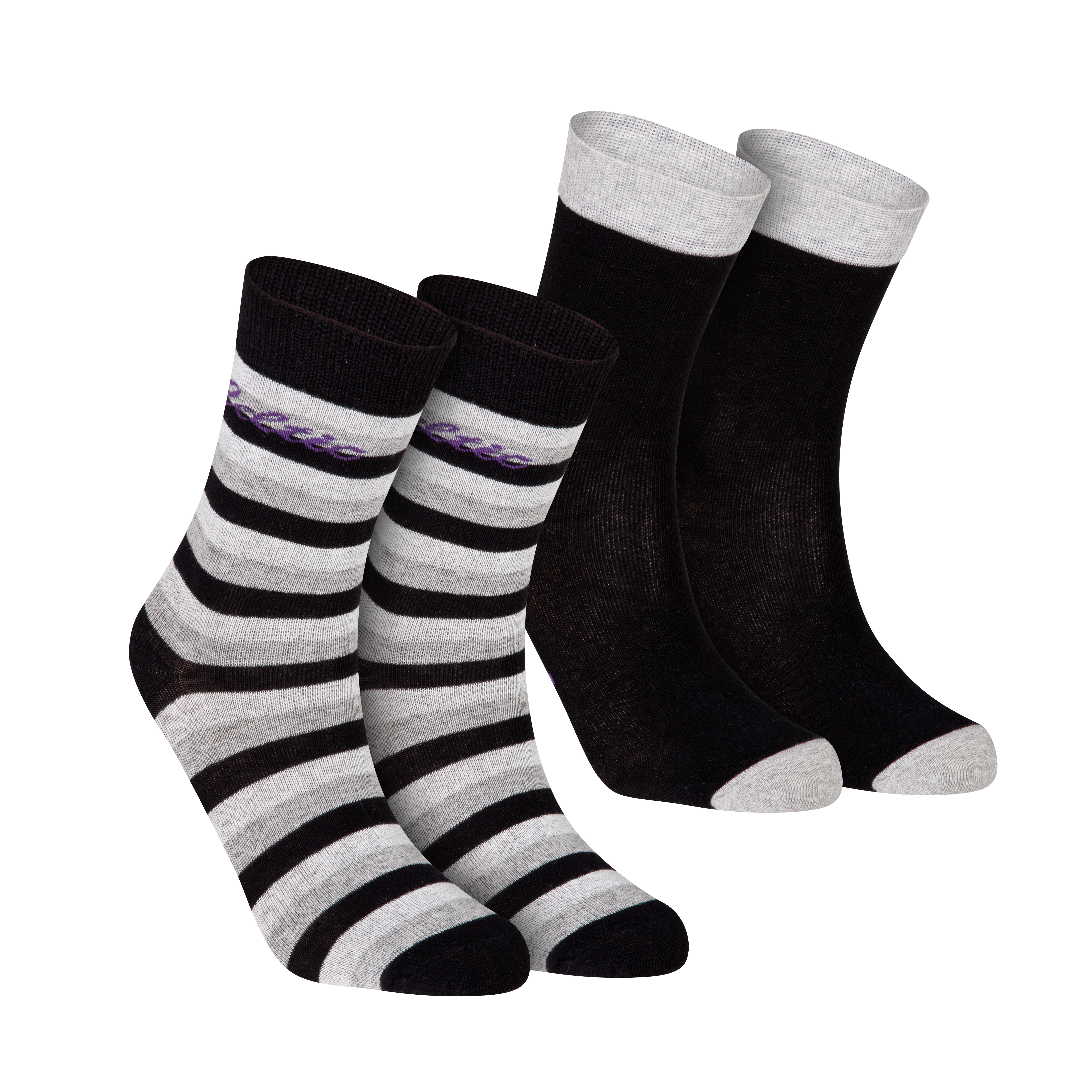 Celtic 2 Pack Dress Socks - Black - Womens