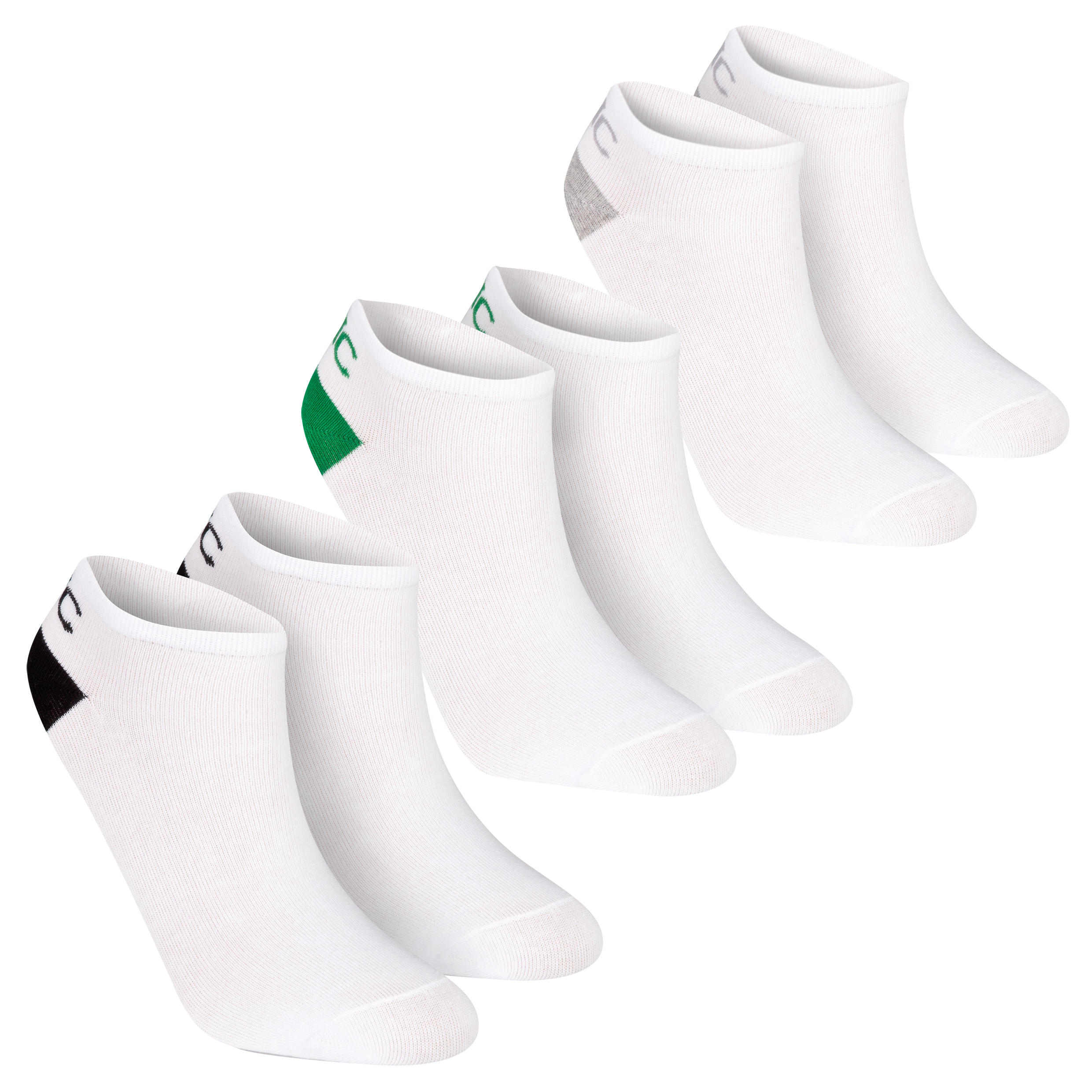 Celtic 3 Pack Trainer Socks - White - Mens