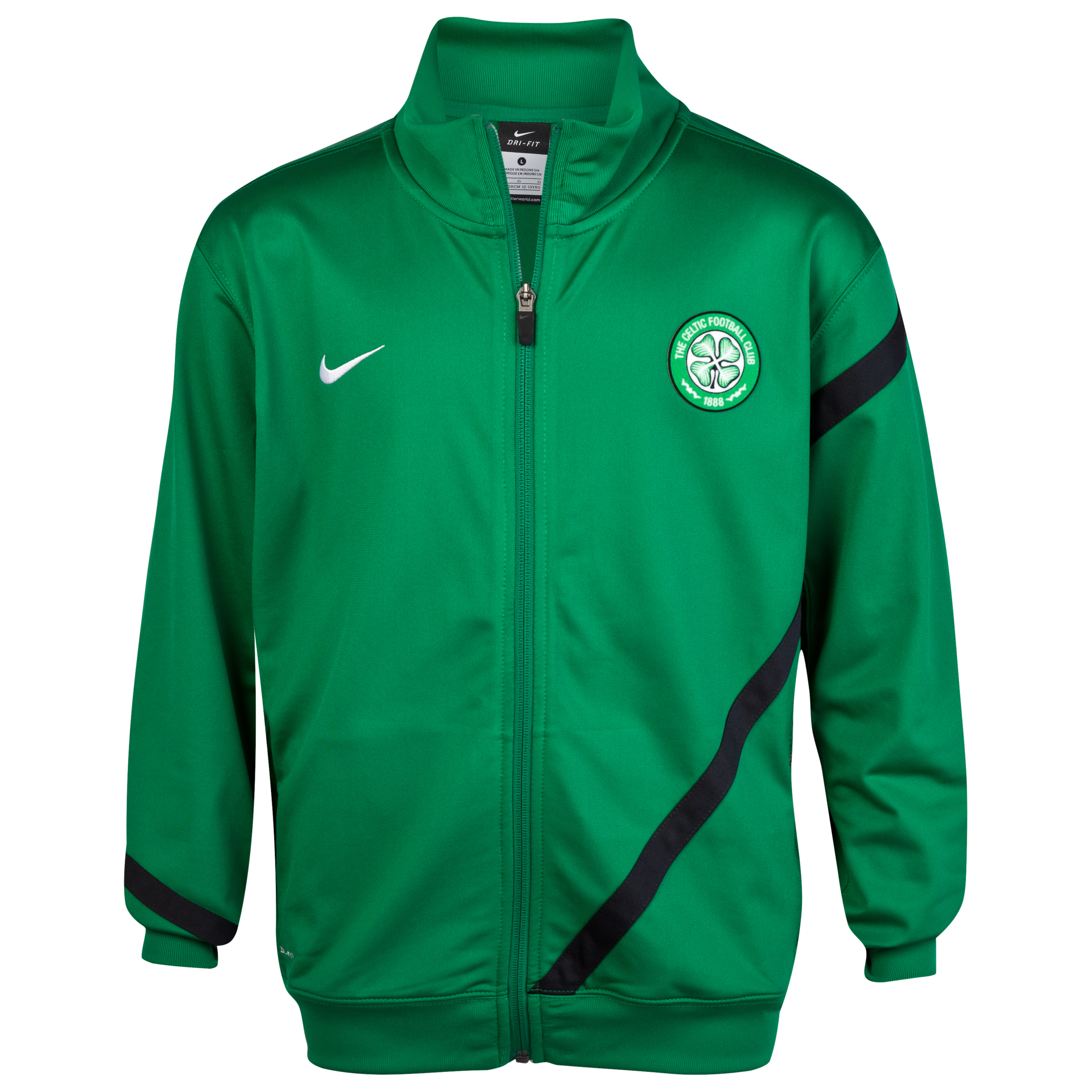 Celtic Poly Track Jacket - Pine Green/Black/White - Youths