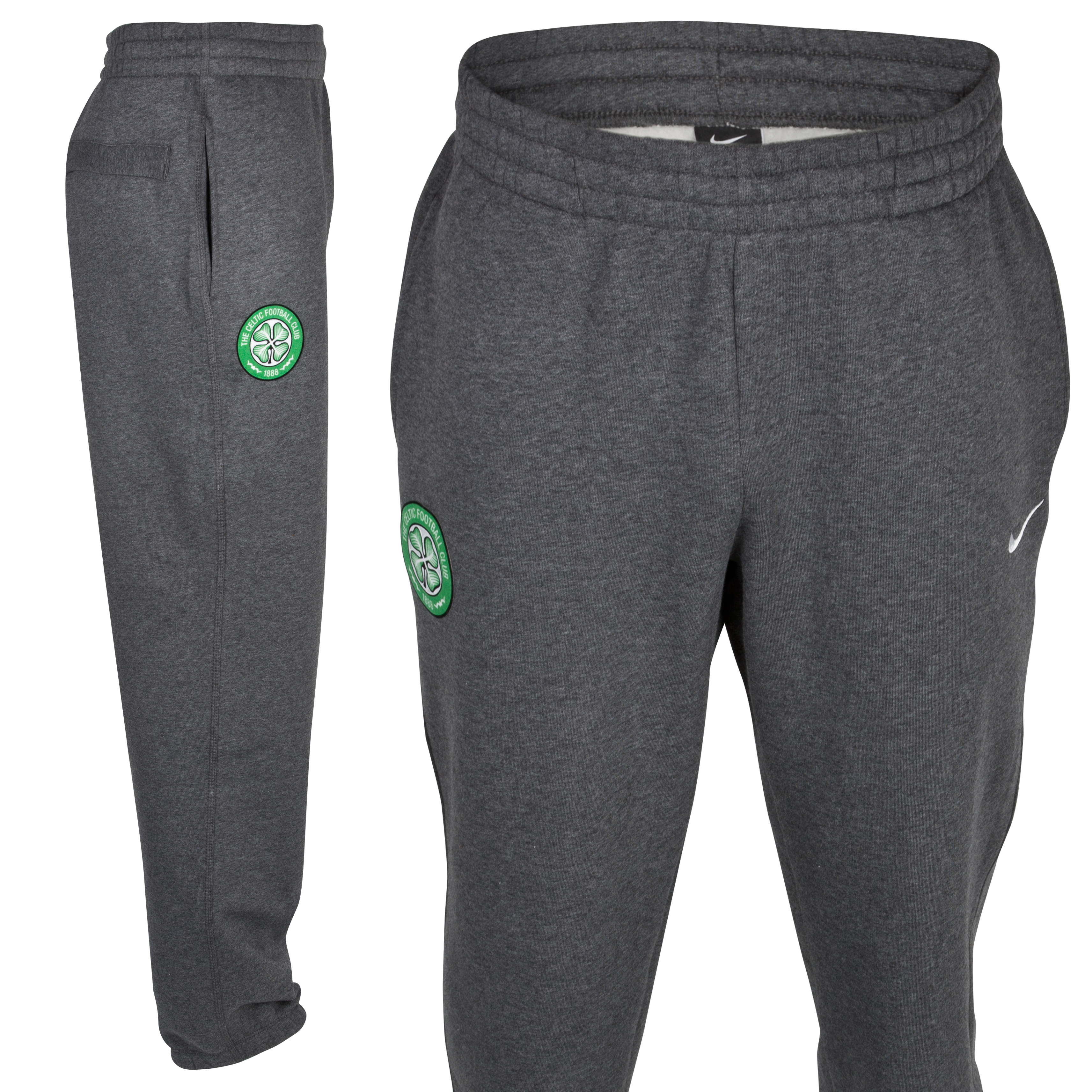 Celtic Classic Cuffed Pant - Charcoal Heather/White