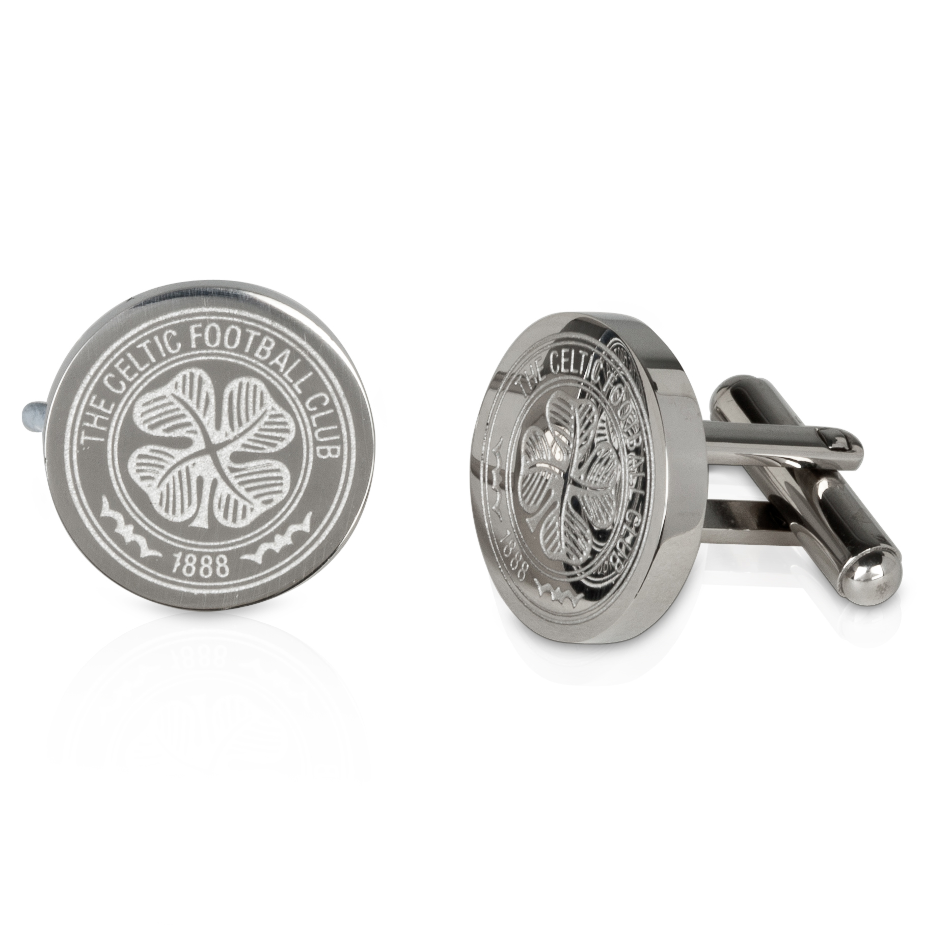 Celtic Cut Out Crest Cufflinks - Stainless Steel