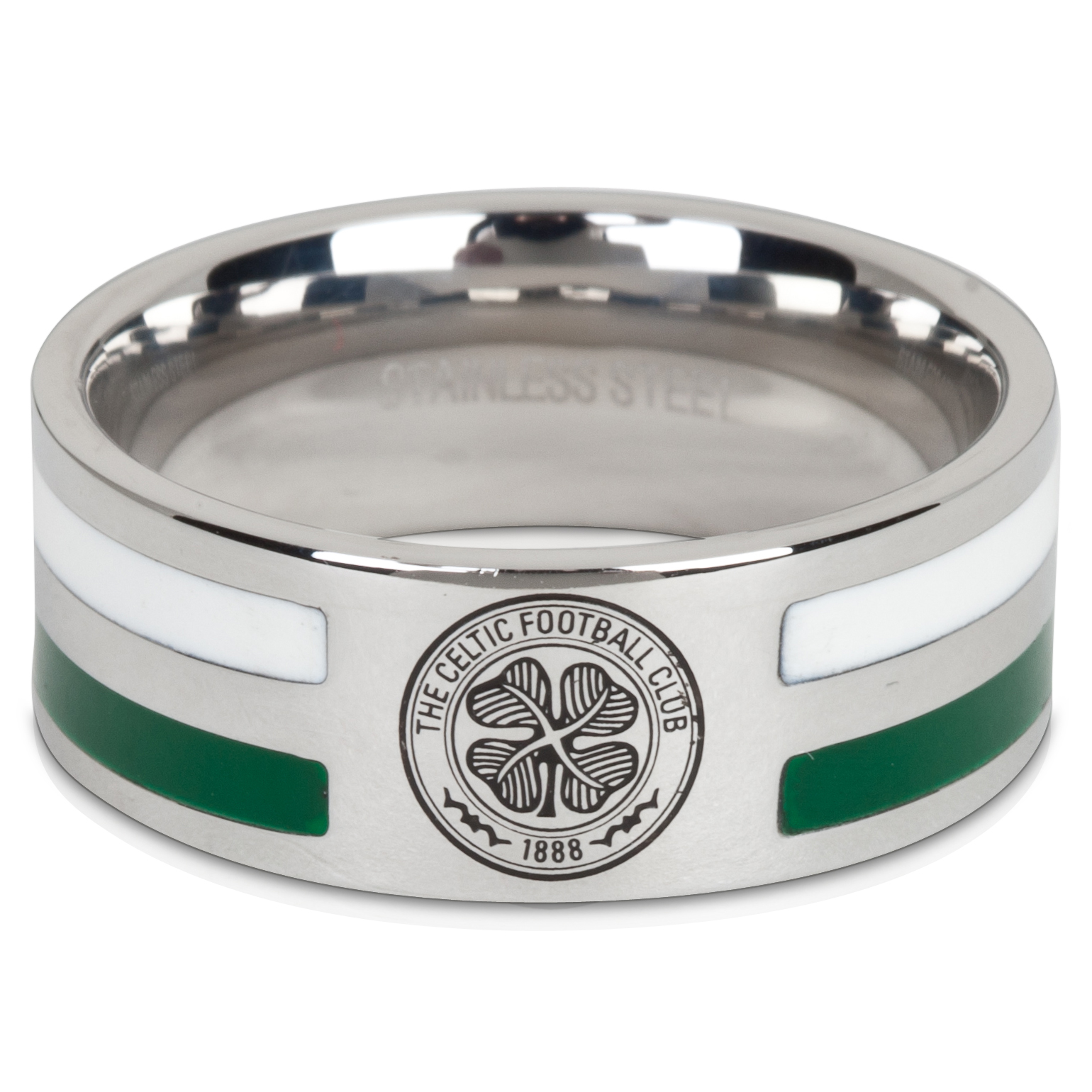 Celtic Crest Hooped Ring - Stainless Steel