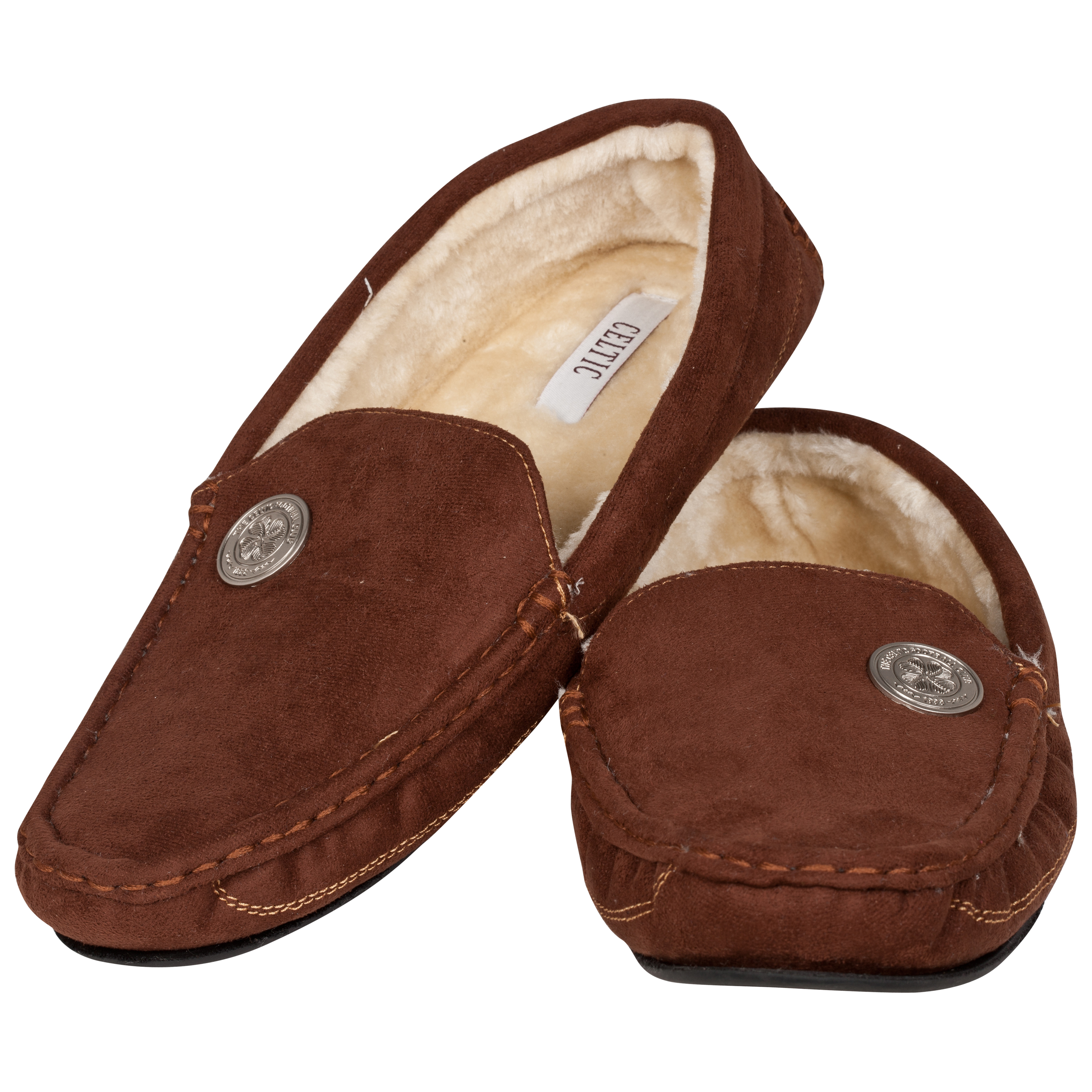 Celtic Moccasin Slipper - Brown - Mens