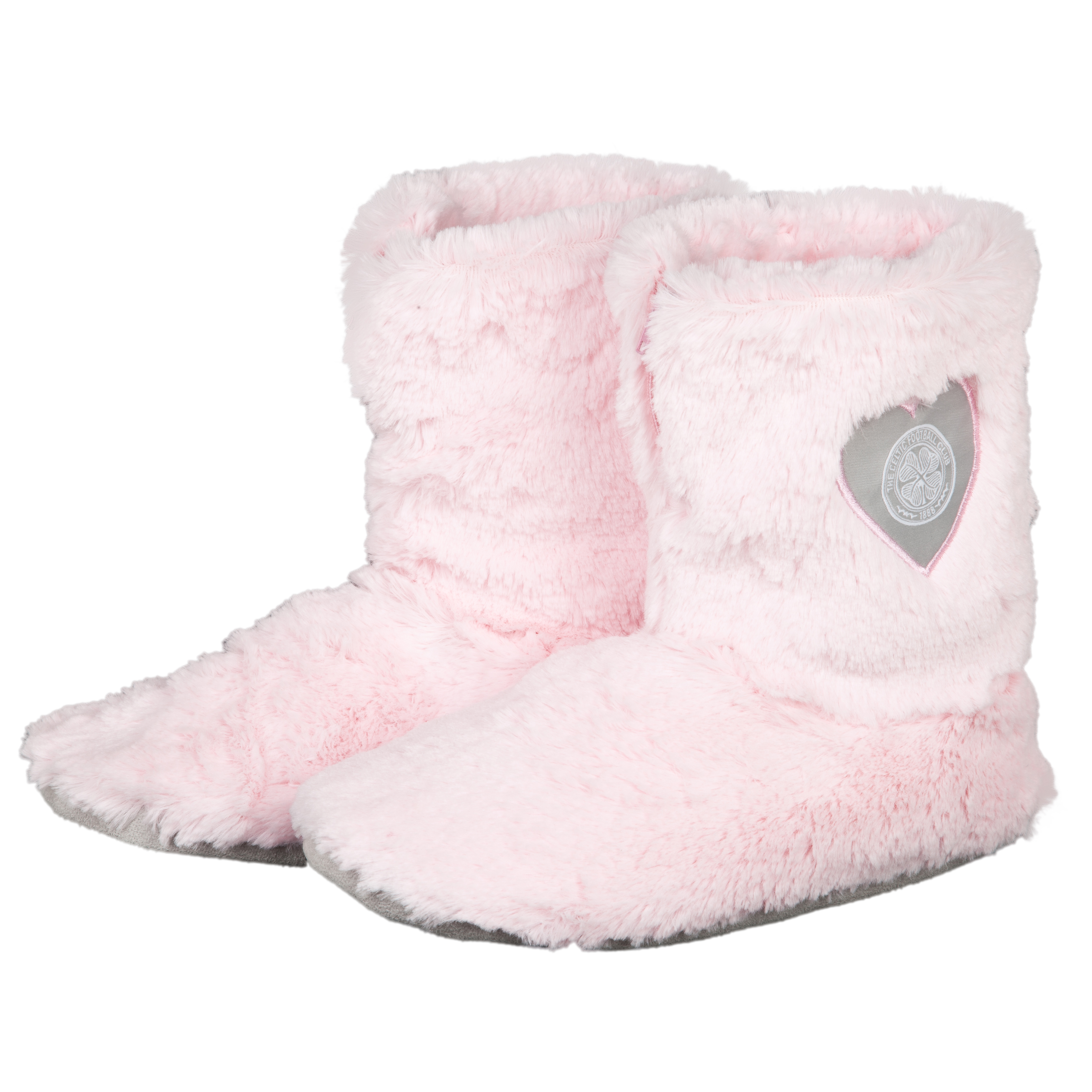 Celtic Fur Boot Slipper - Pink - Womens