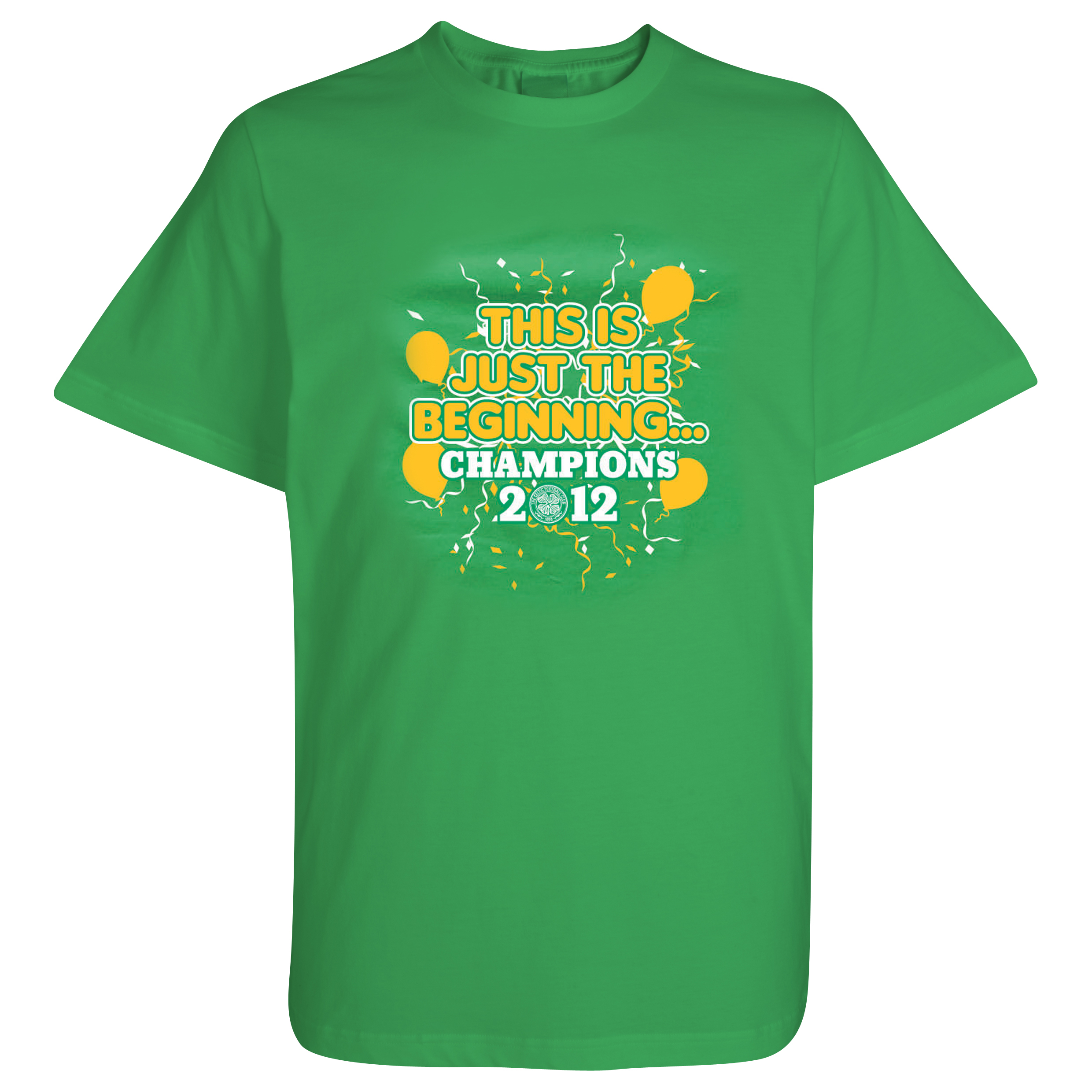 Celtic This Is Just The Beginning Champions 2012 T-Shirt - Green - Boys