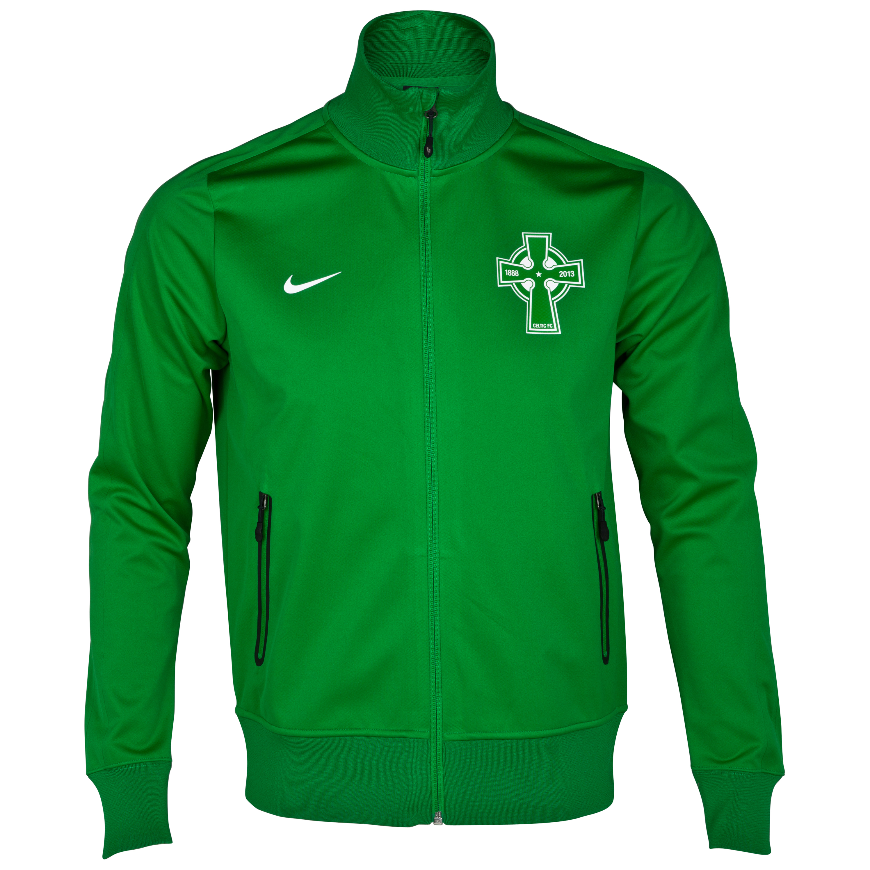 Celtic Authentic UEFA Champions League N98 Jacket - Victory Green/Victory Green/White