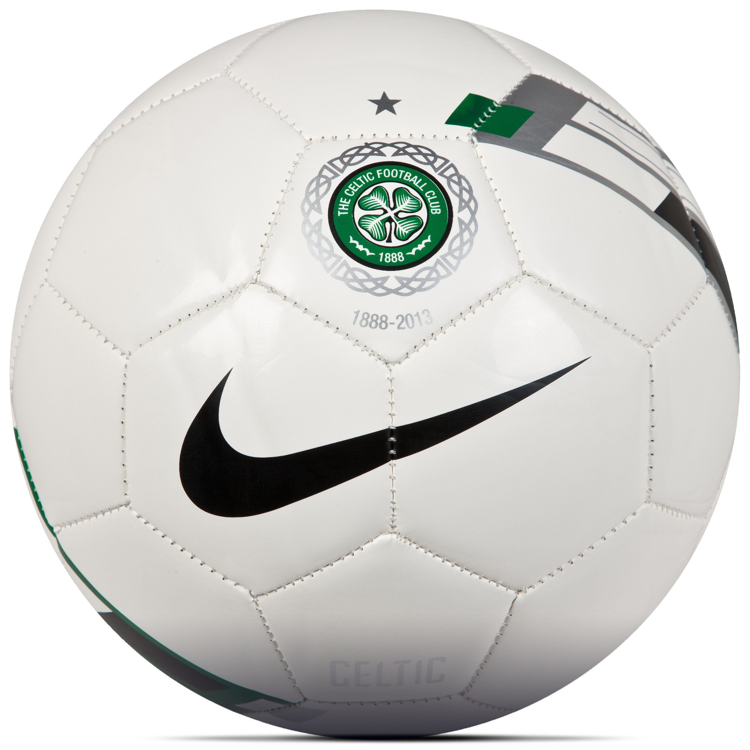 Celtic Supporters Football - White/Green/Black - Size 5
