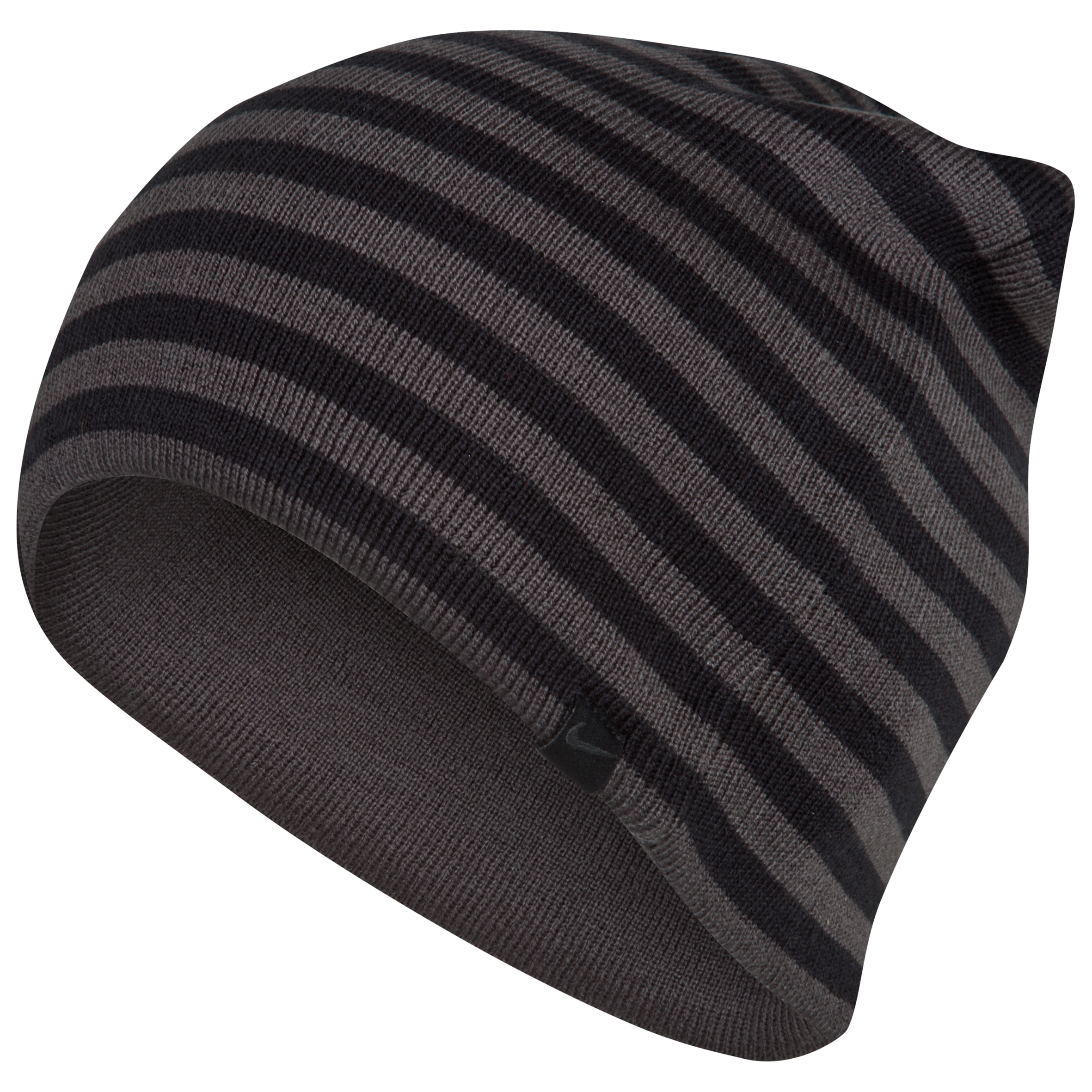 Celtic Stripe/Solid Reversible Beanie - Anthracite/Black/white