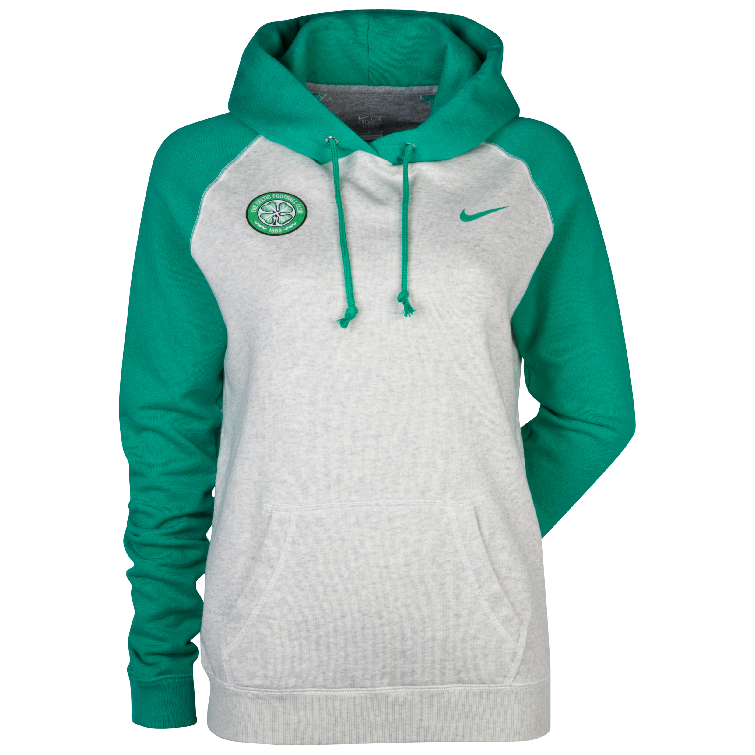 Celtic Raglan Sleeve Hoody  - Oatmeal Heather/Stadium Green - Womens