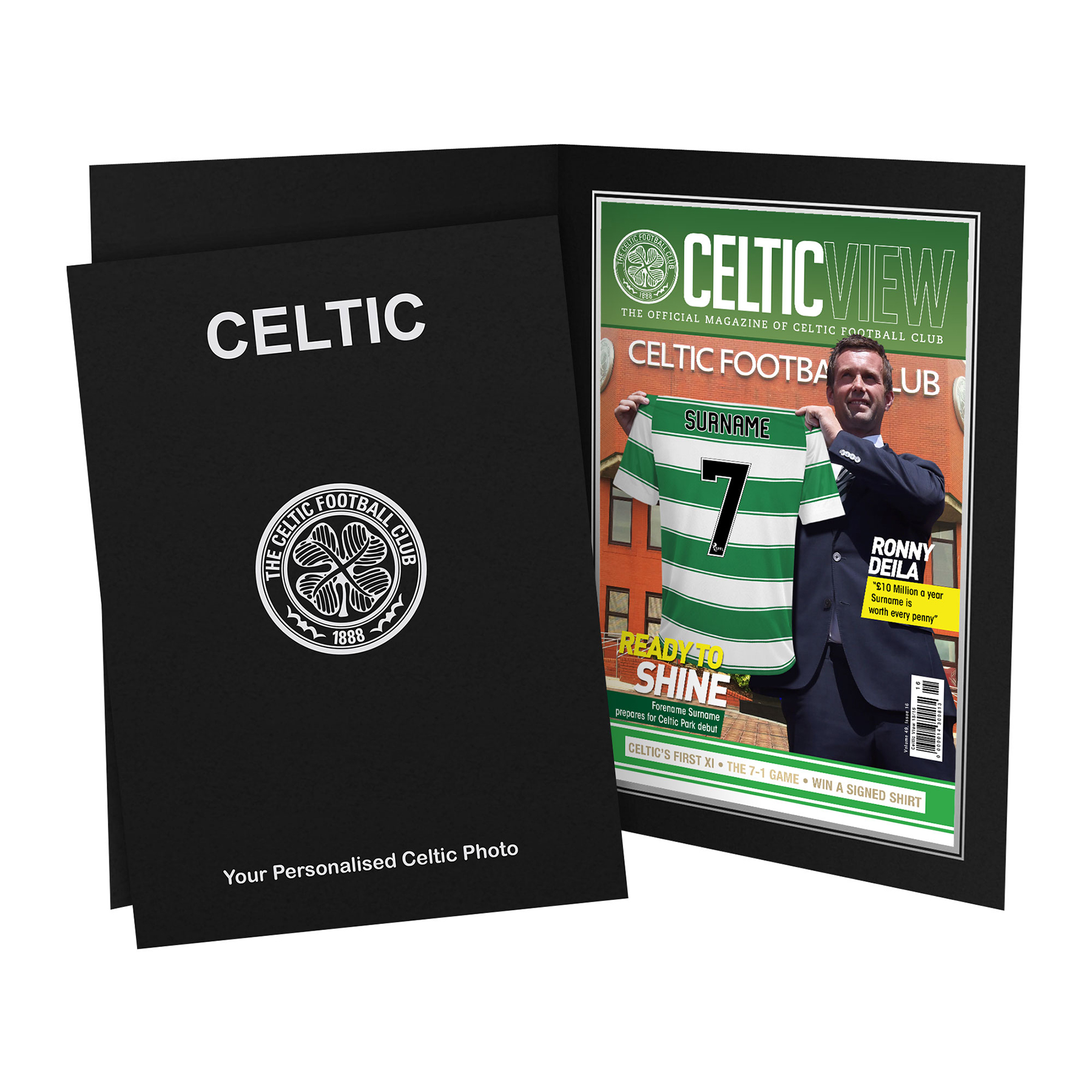 Celtic Personalised Magazine Cover in Presentation Folder