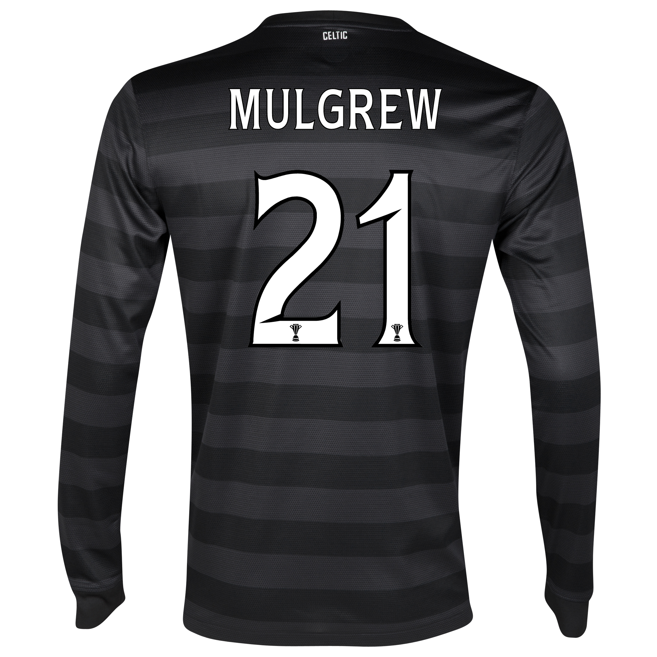 Celtic Away Shirt 2012/13 - Long Sleeved no sponsor with Mulgrew 21 printing