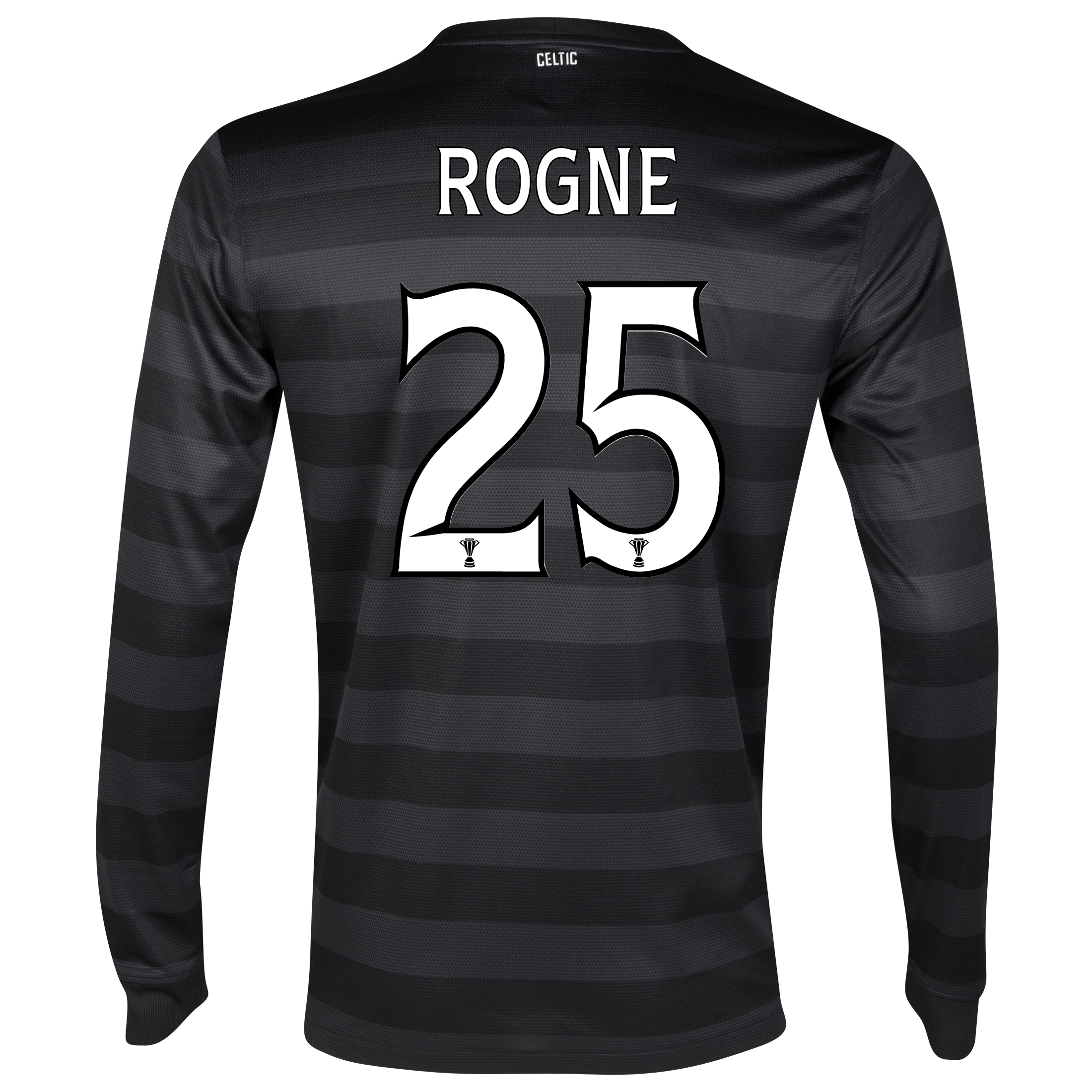Celtic Away Shirt 2012/13 - Long Sleeved no sponsor with Rogne 25 printing