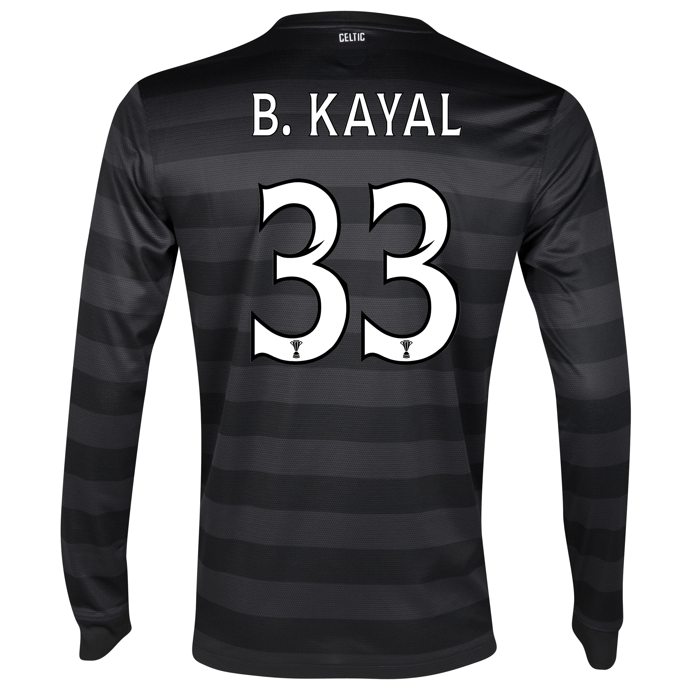 Celtic Away Shirt 2012/13 - Long Sleeved no sponsor with B.Kayal 33 printing