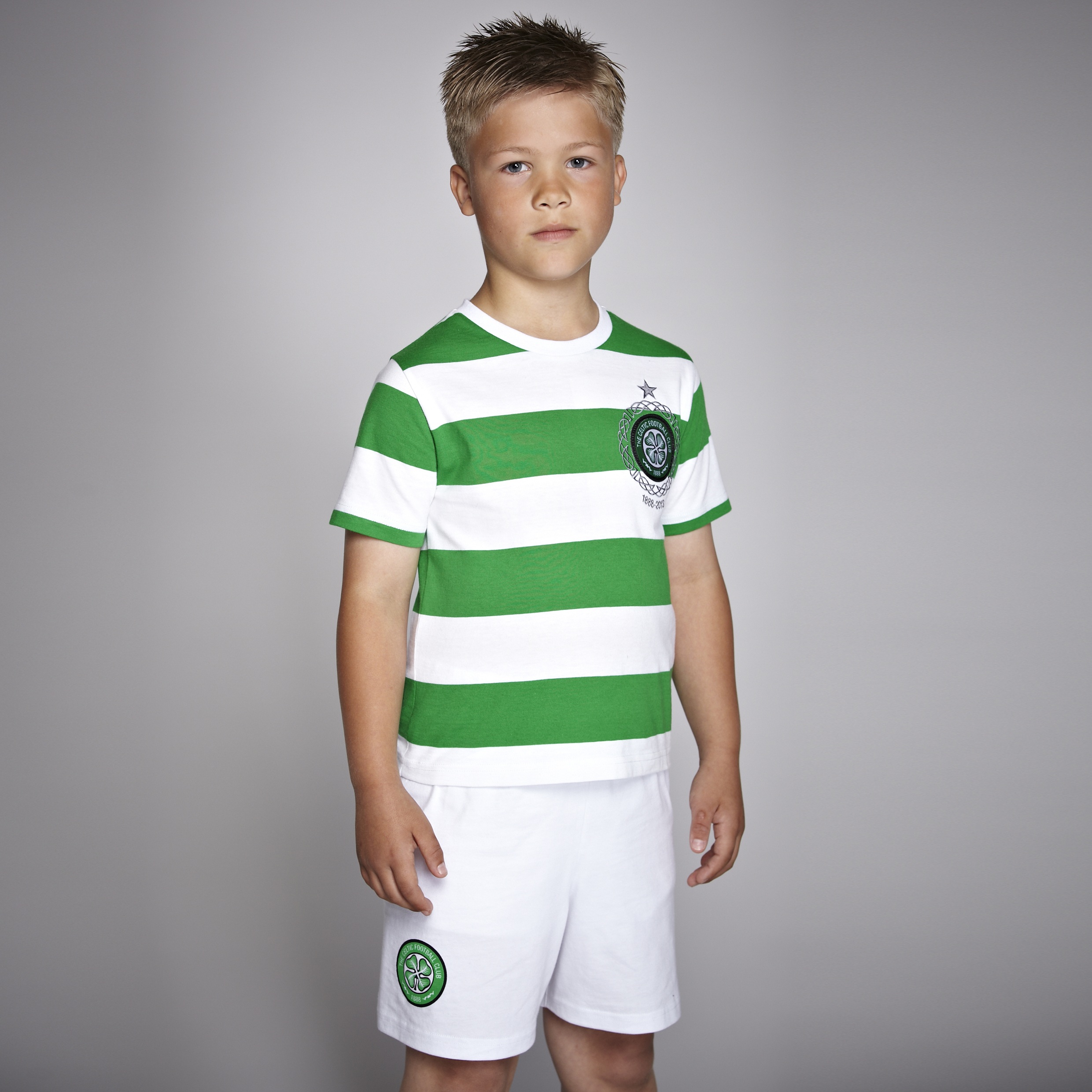 Celtic 125th Year Kit Pyjamas - Green/White - Boys