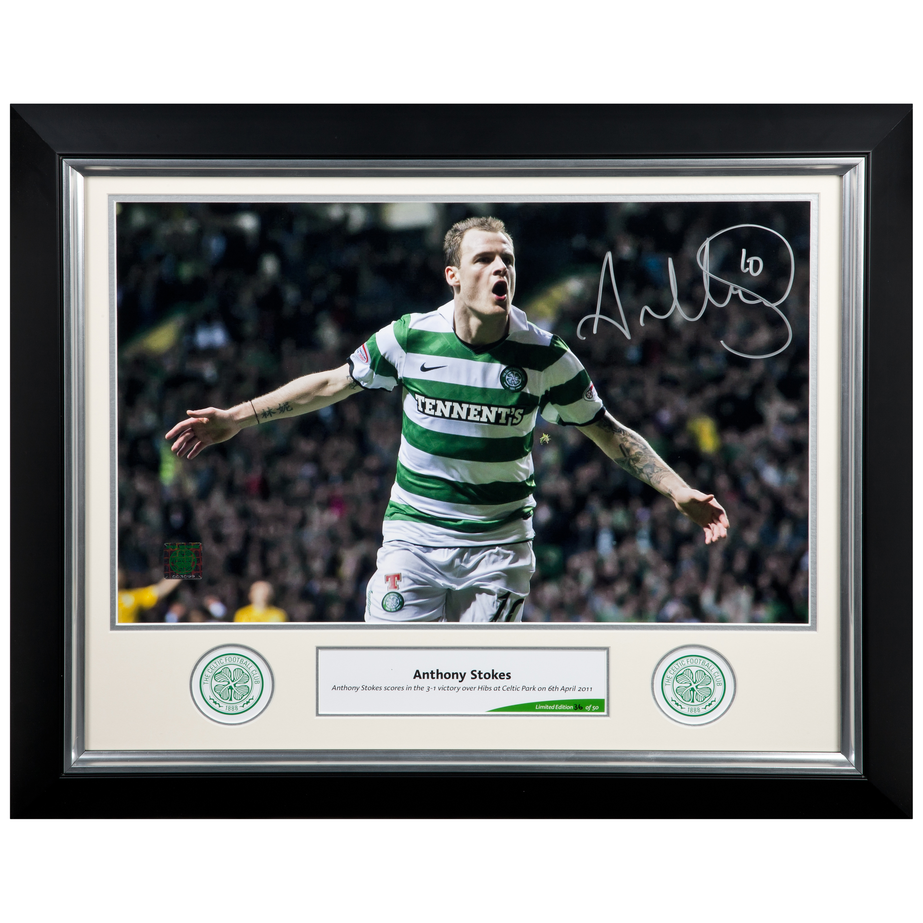 Celtic Limited Edition Stokes Signed Print - Framed