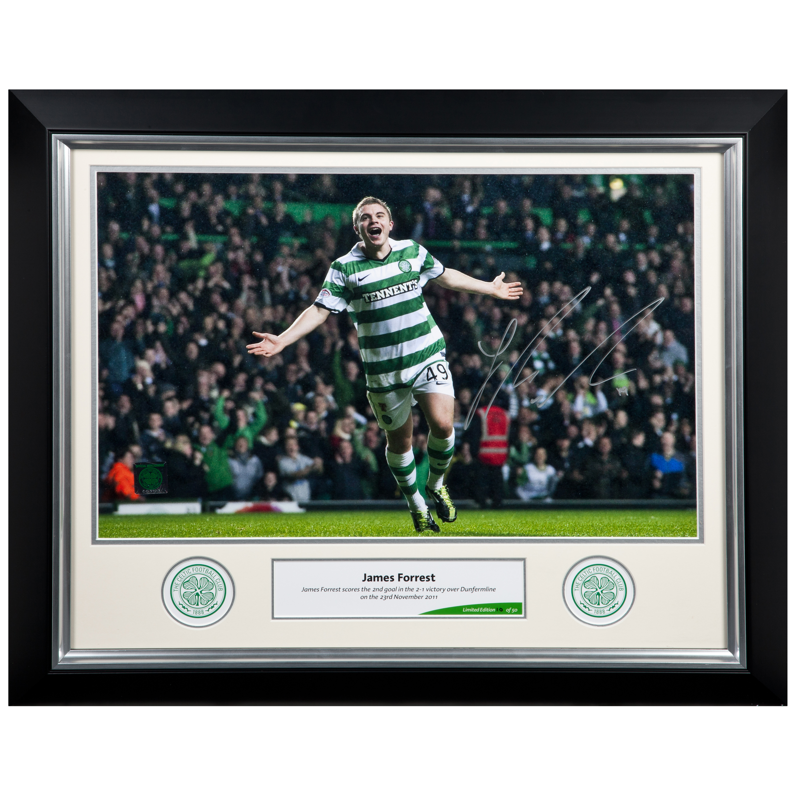 Celtic Limited Edition Forrest Signed Print - Framed