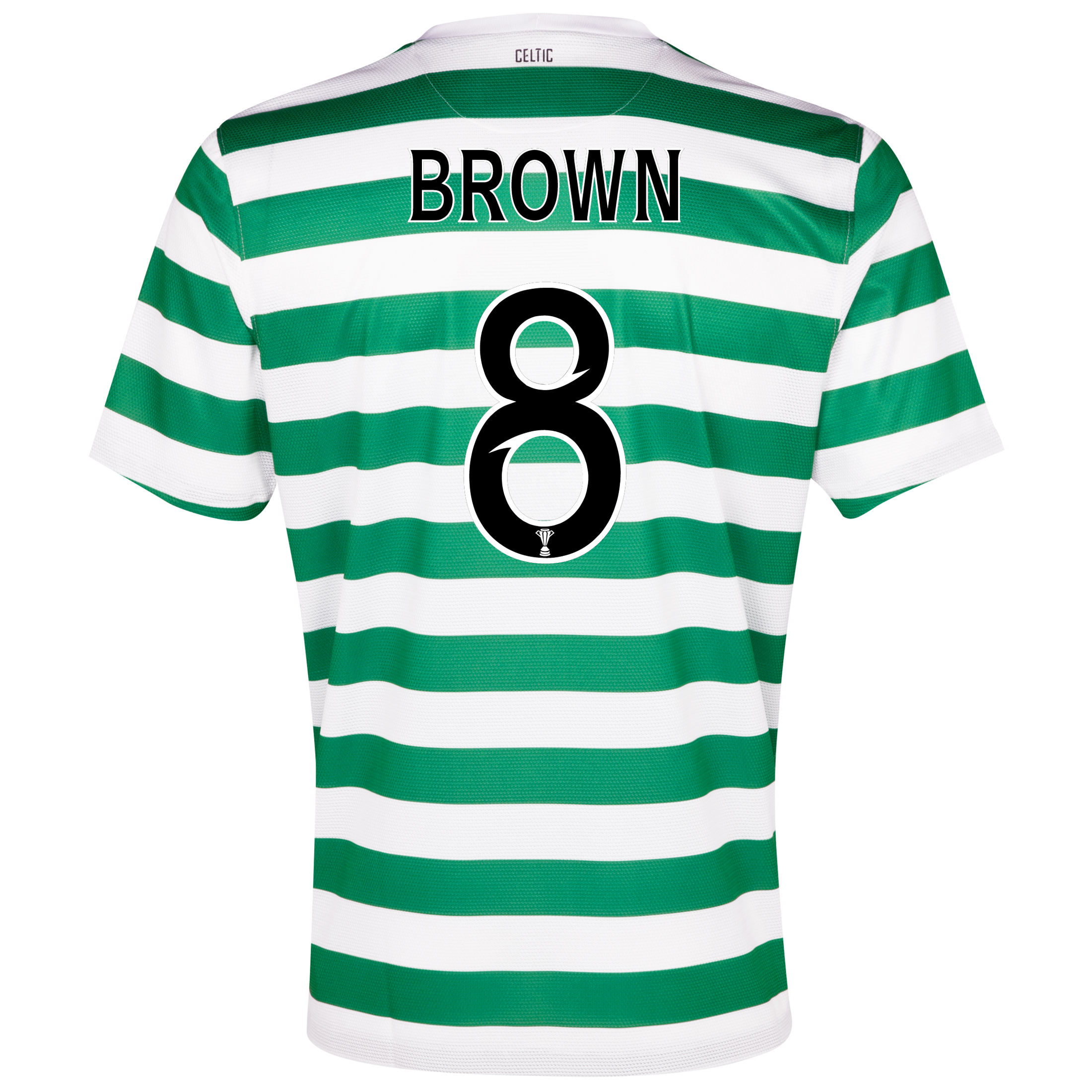 Celtic Home Shirt 2012/13 with Brown 8 printing
