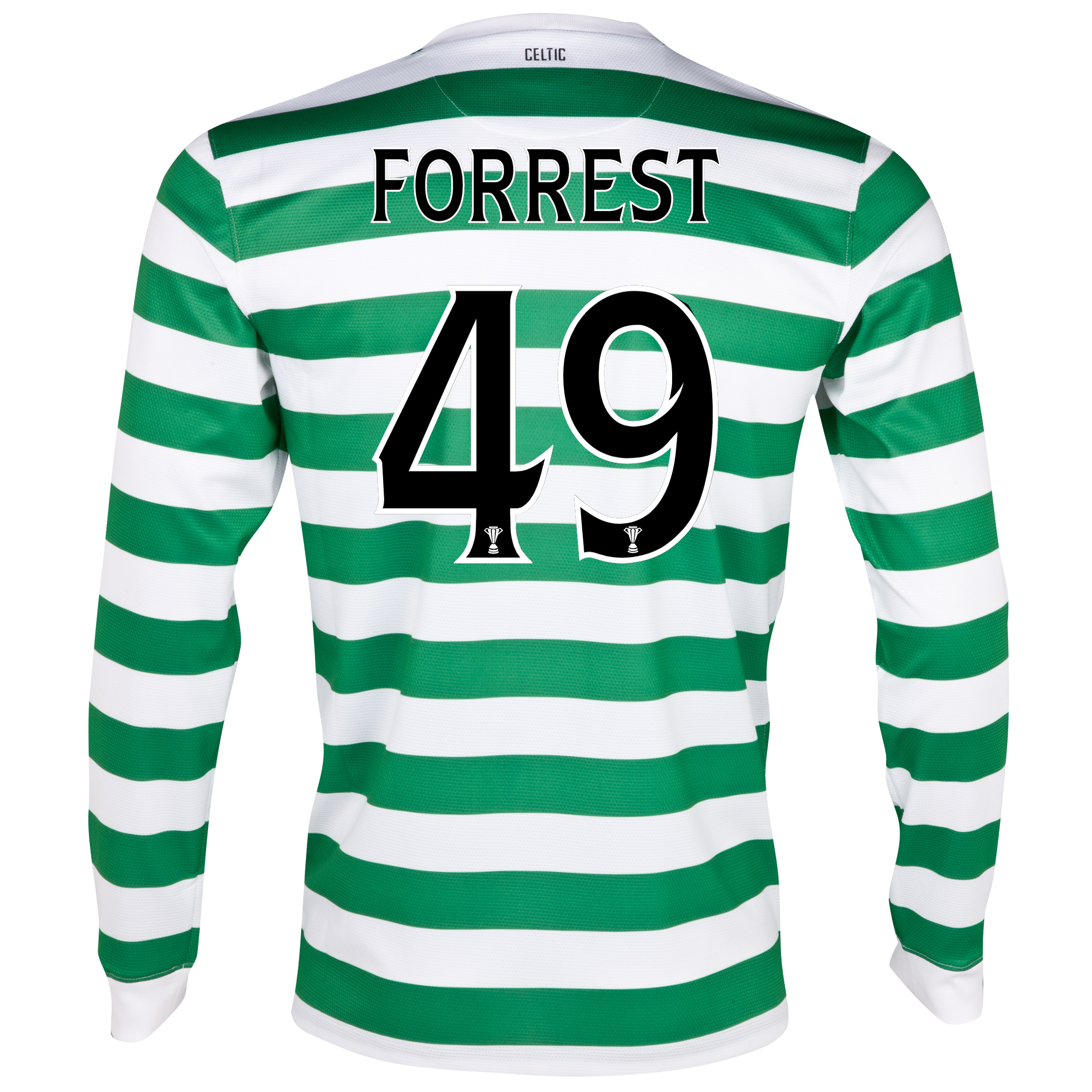 Celtic Home Shirt 2012/13 - Long Sleeved with Forrest 49 printing