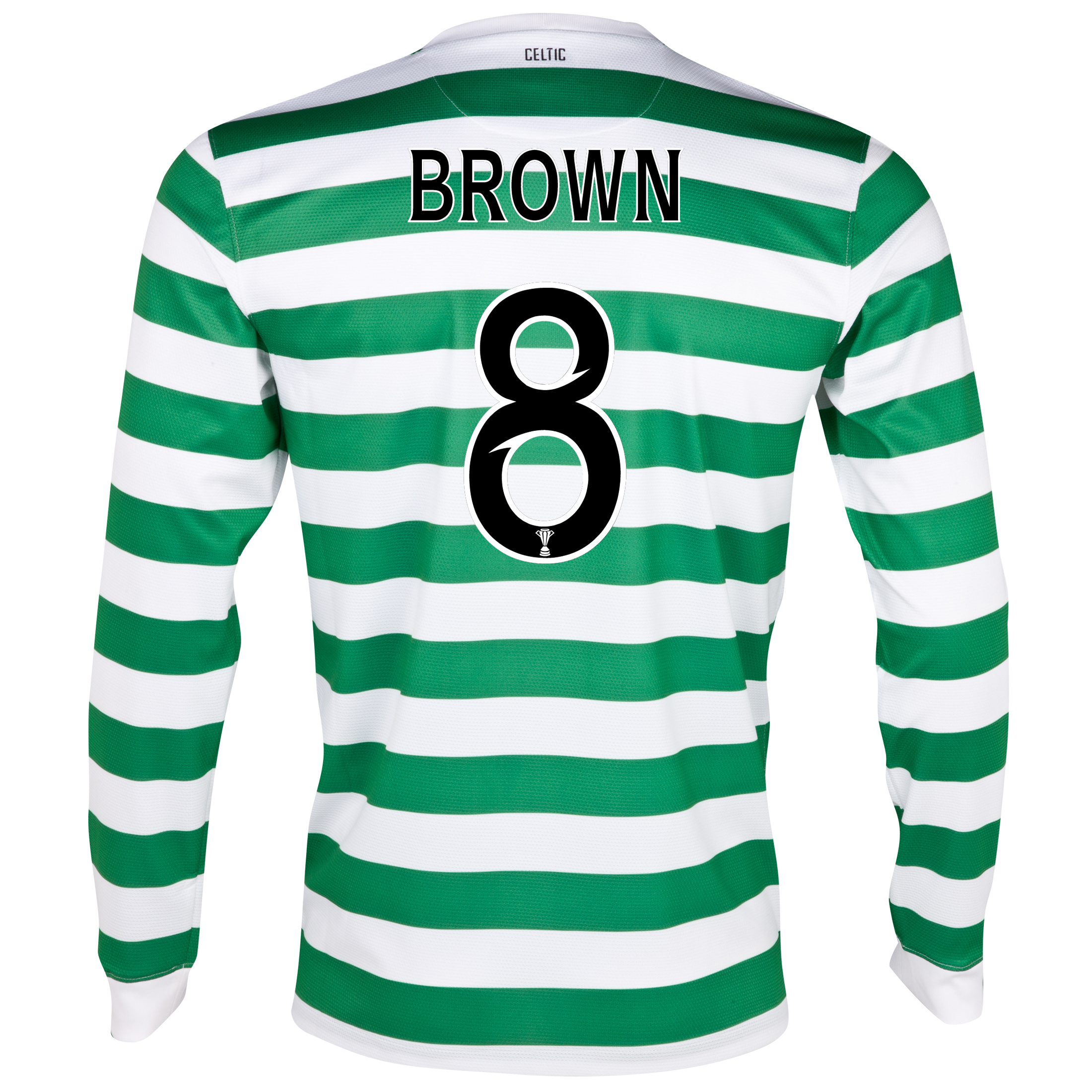 Celtic Home Shirt 2012/13 - Long Sleeved - No Sponsor with Brown 8 printing