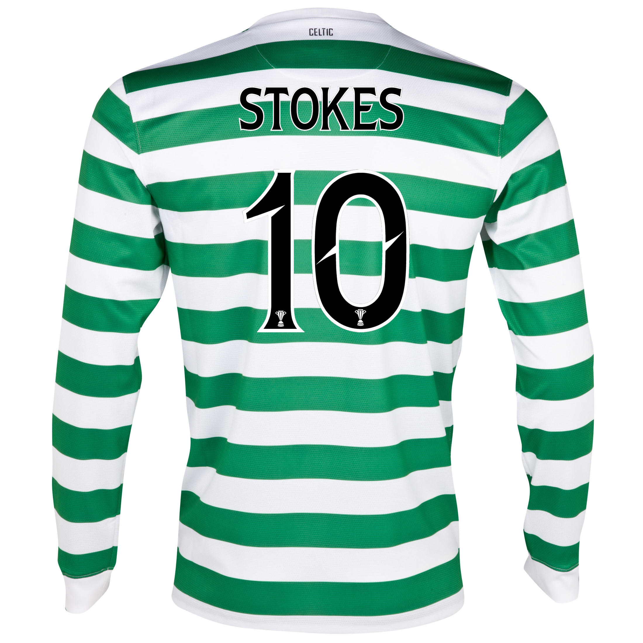 Celtic Home Shirt 2012/13 - Long Sleeved - No Sponsor with Stokes 10 printing