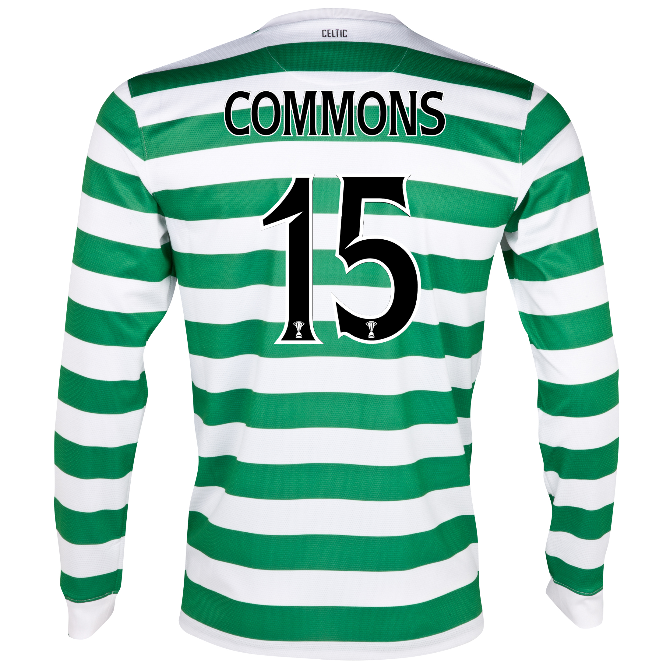 Celtic Home Shirt 2012/13 - Long Sleeved - No Sponsor with Commons 15 printing