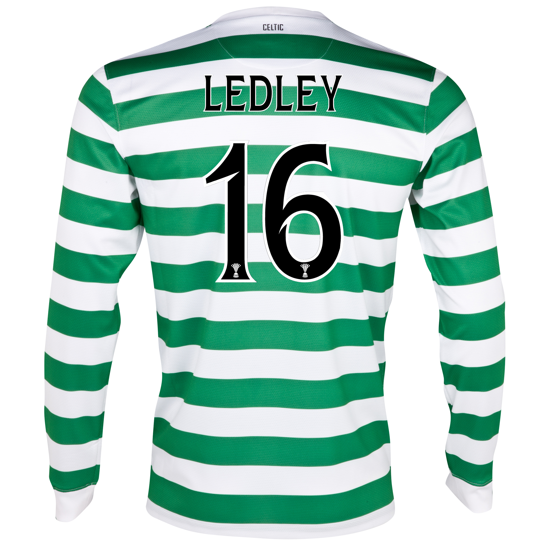 Celtic Home Shirt 2012/13 - Long Sleeved - No Sponsor with Ledley 16 printing
