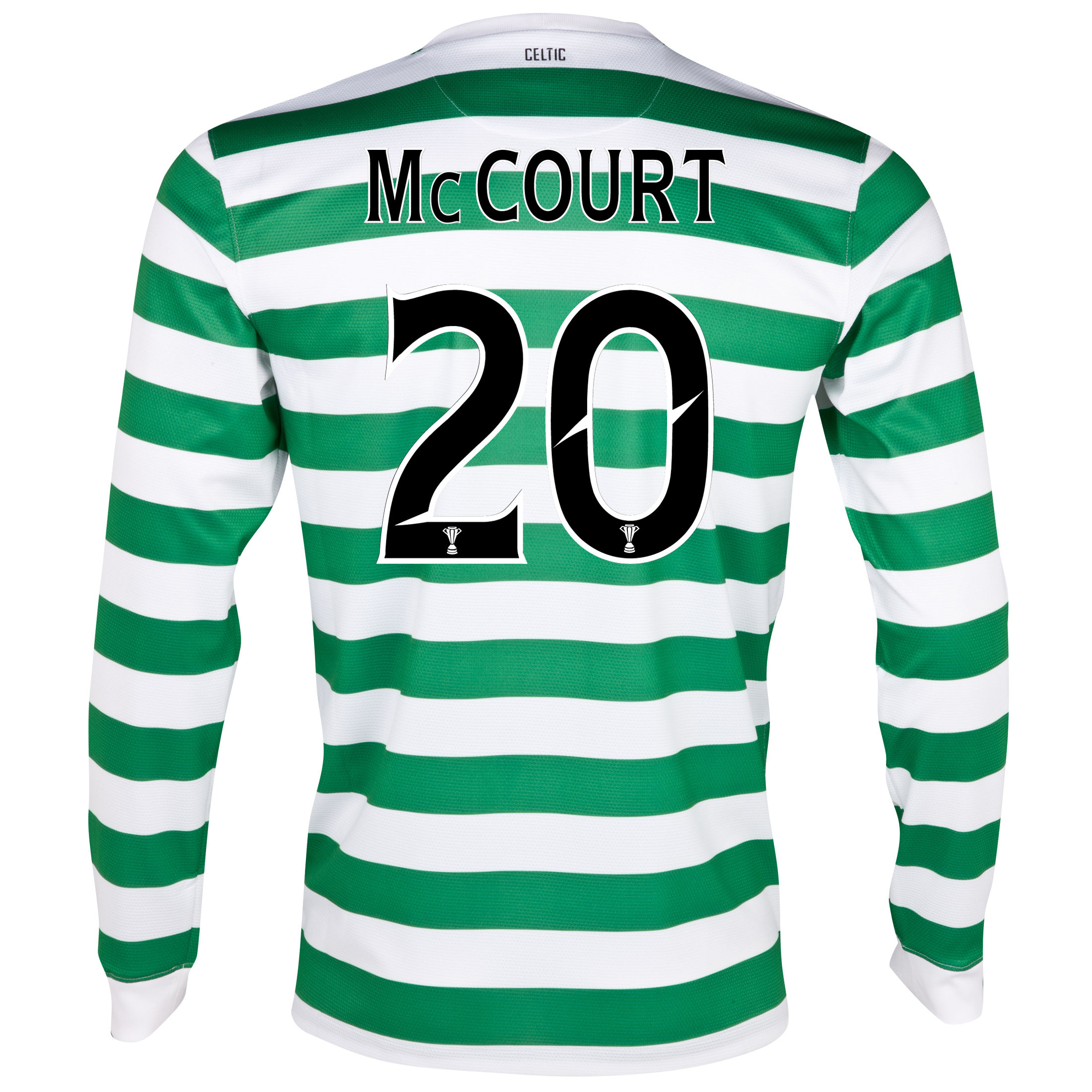 Celtic Home Shirt 2012/13 - Long Sleeved - No Sponsor with McCourt 20 printing