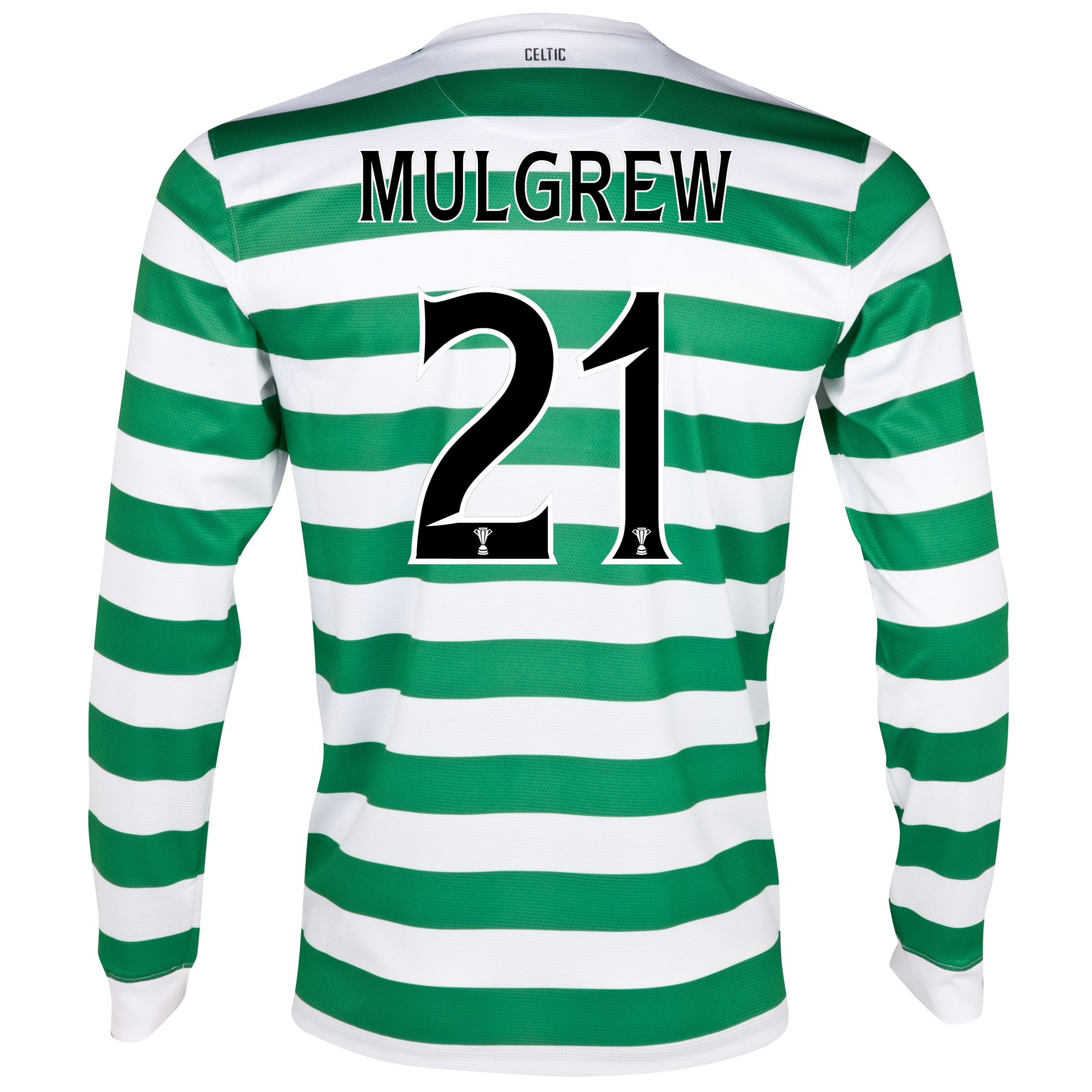 Celtic Home Shirt 2012/13 - Long Sleeved - No Sponsor with Mulgrew 21 printing