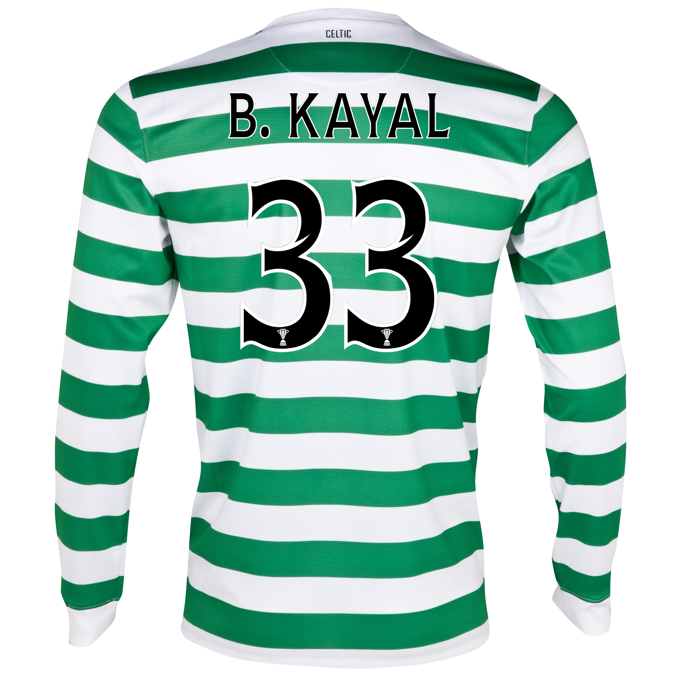 Celtic Home Shirt 2012/13 - Long Sleeved - No Sponsor with B.Kayal 33 printing