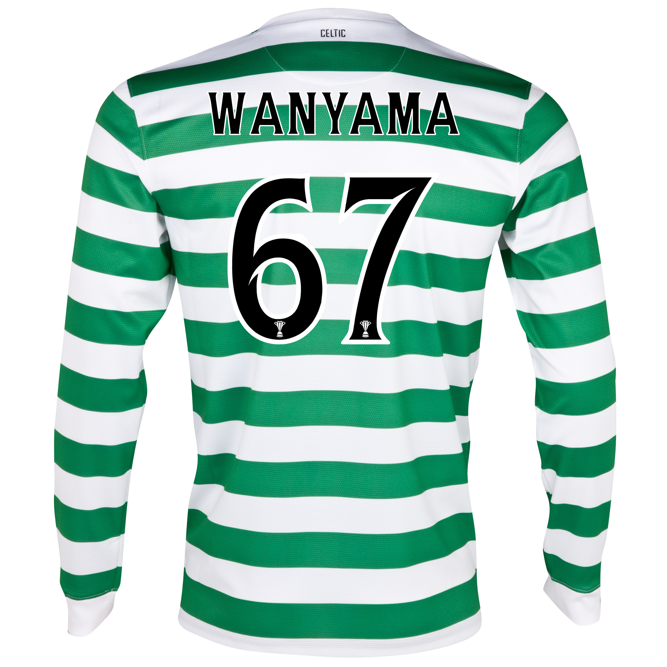 Celtic Home Shirt 2012/13 - Long Sleeved - No Sponsor with Wanyama 67 printing