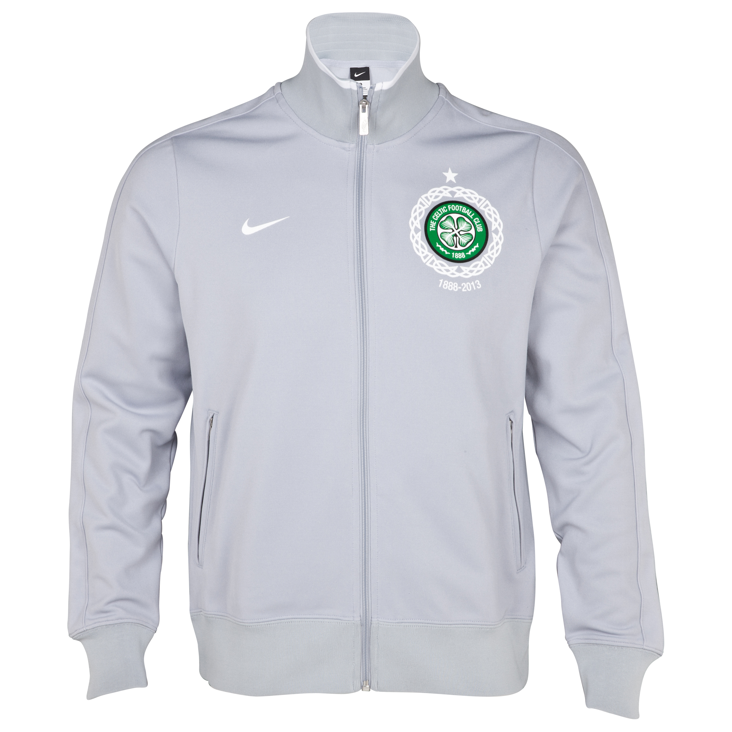 Celtic Authentic N98 Track Jacket - Wolf Grey/White