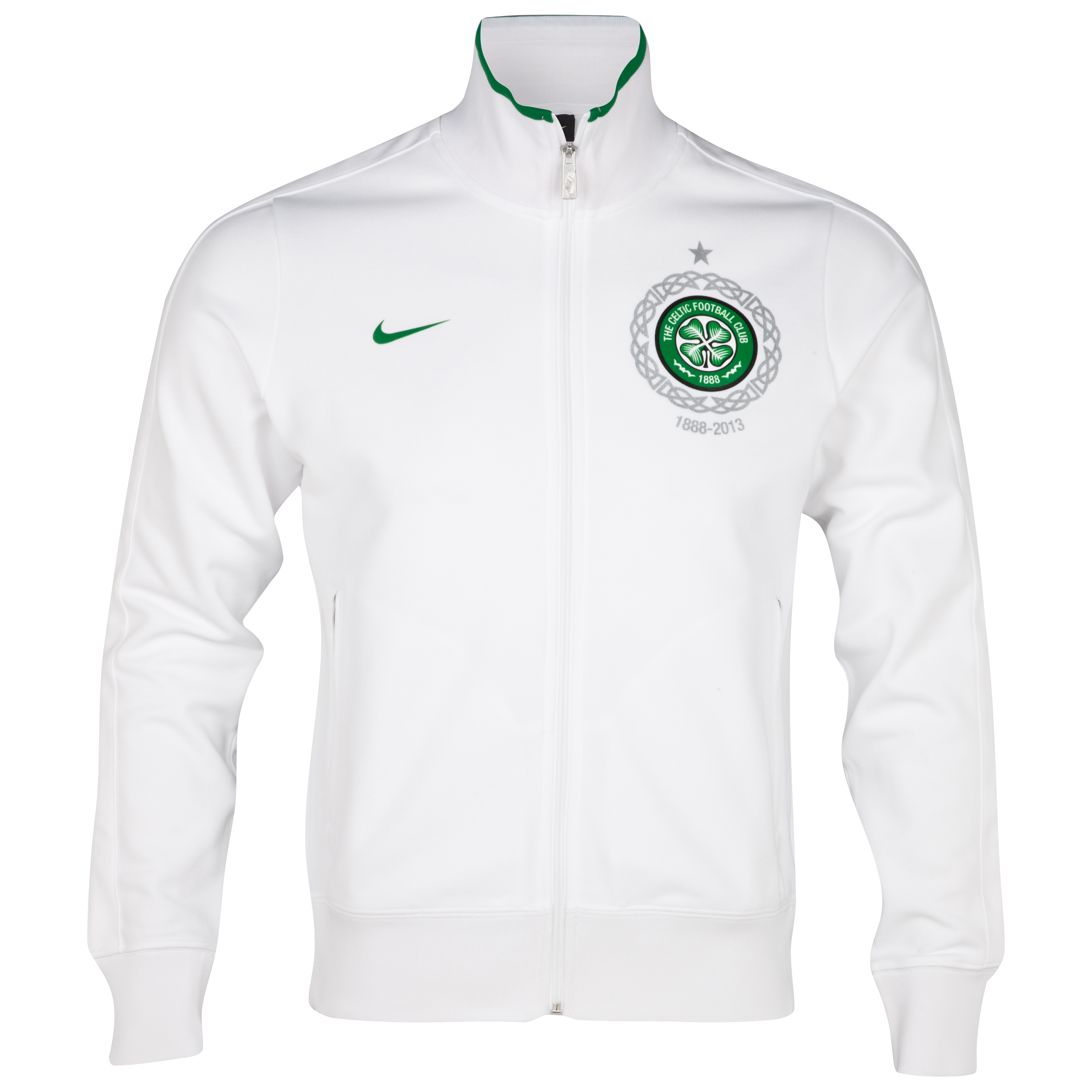 Celtic Authentic N98 Track Jacket - White/Victory Green