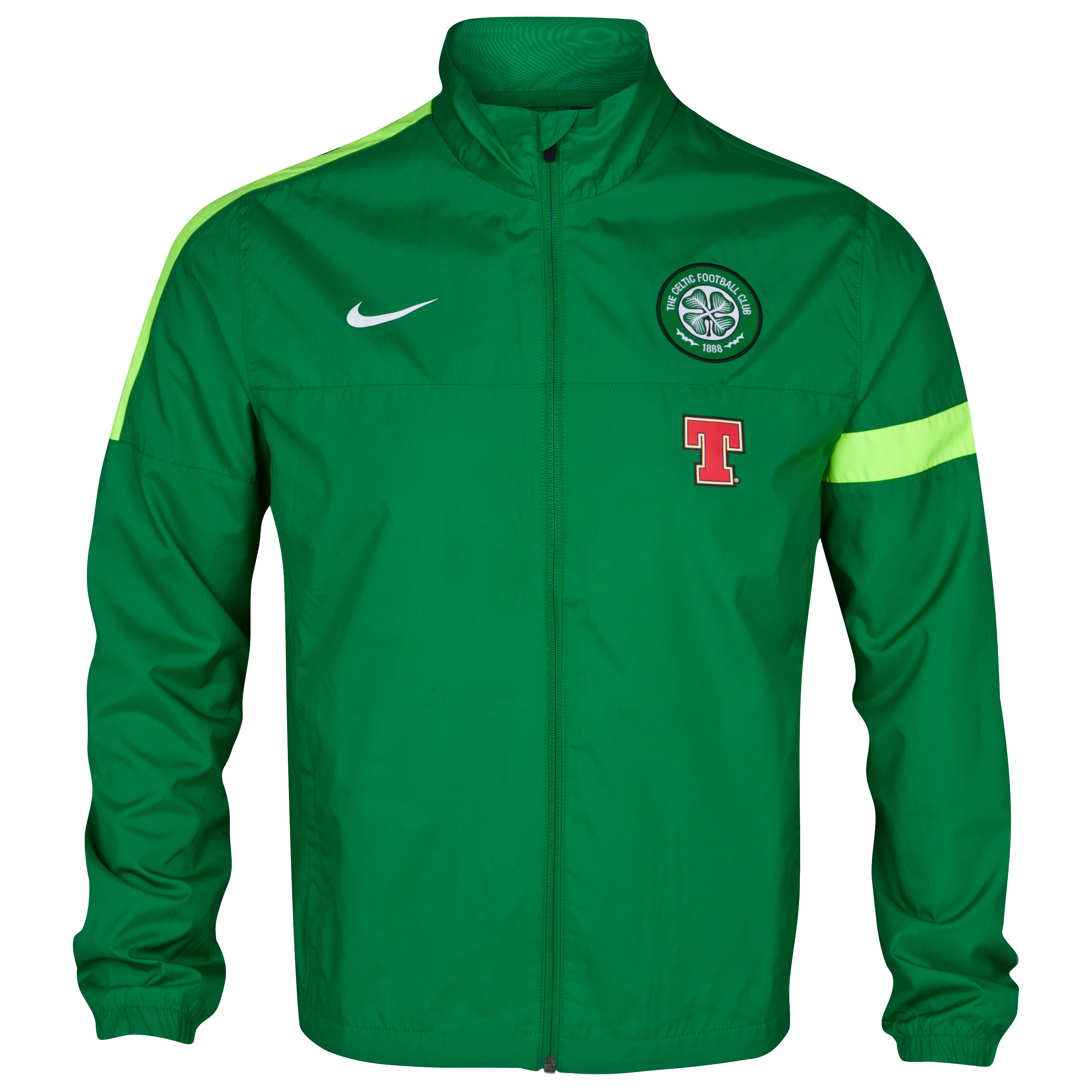 Celtic Sideline Woven Jacket - Victory Green/Volt/White
