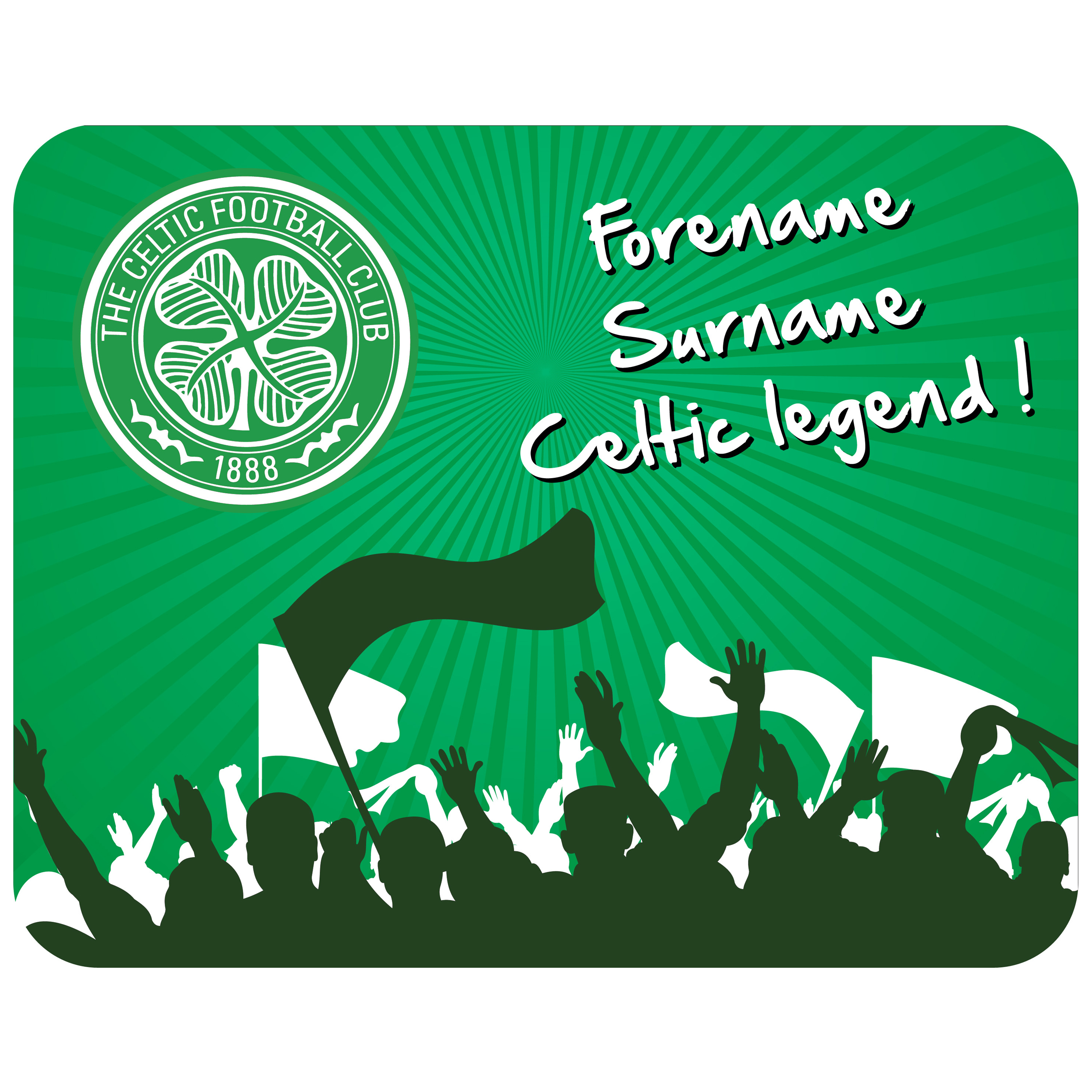Celtic Personalised Legend Mouse Mat