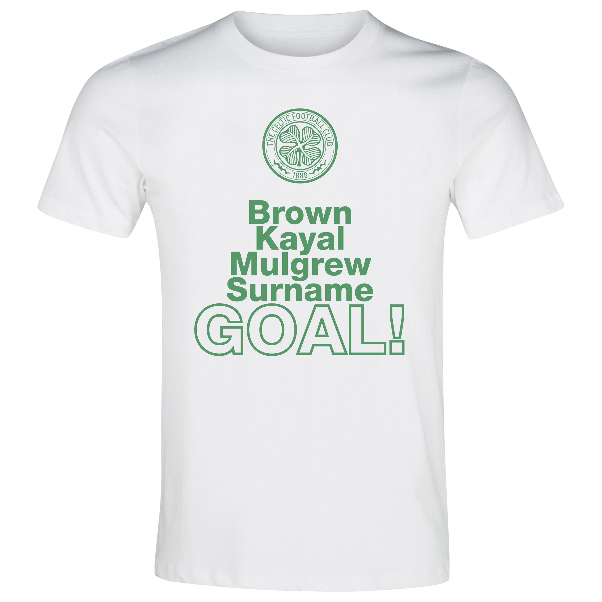 Celtic Personalised Goal T-Shirt