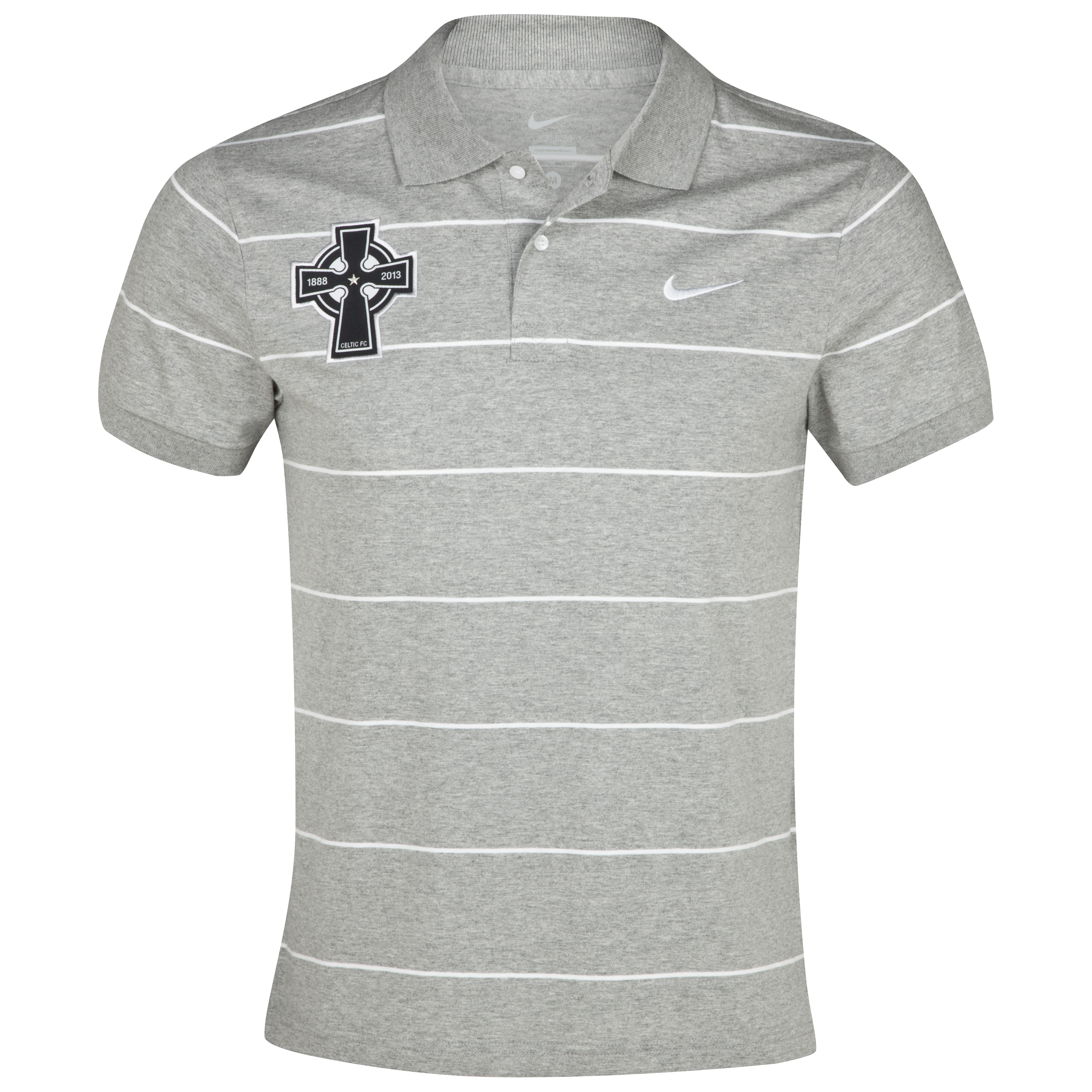 Celtic Stripe Jersey Polo - Dark Grey Heather