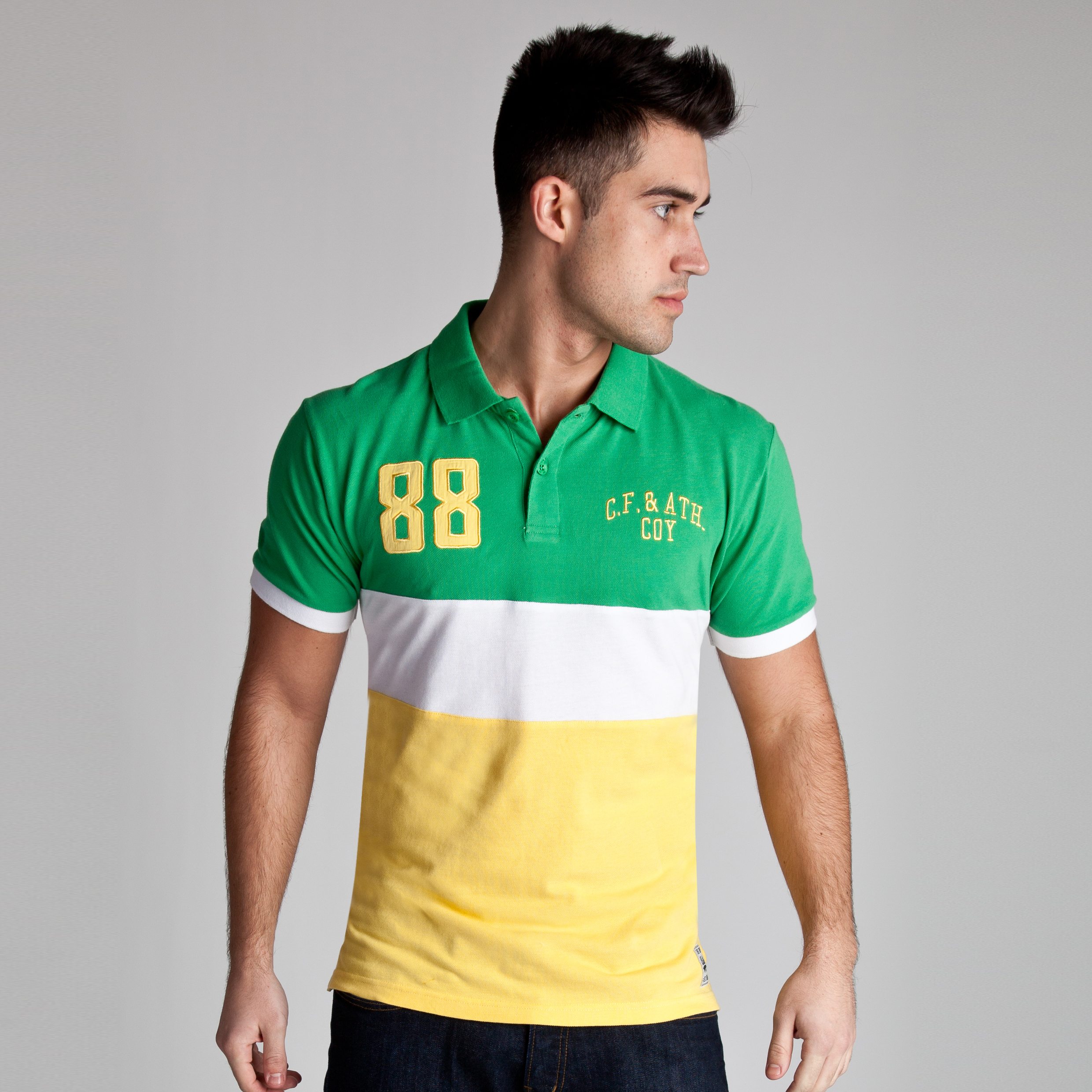 Celtic Heritage 88 Paneled Polo - Tiller Green