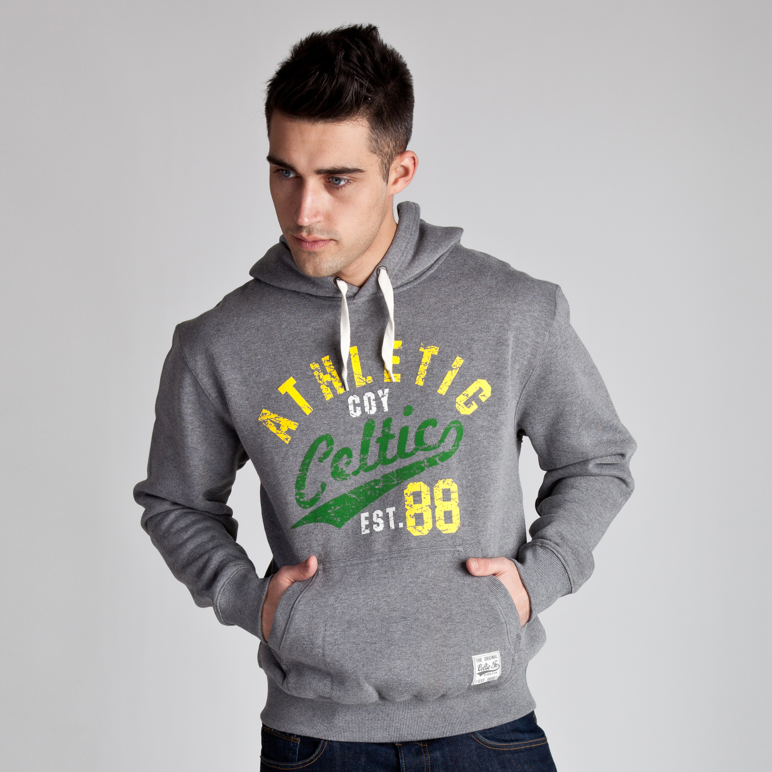 Celtic Heritage Athletic Est 88 Hoody - Vintage Marl