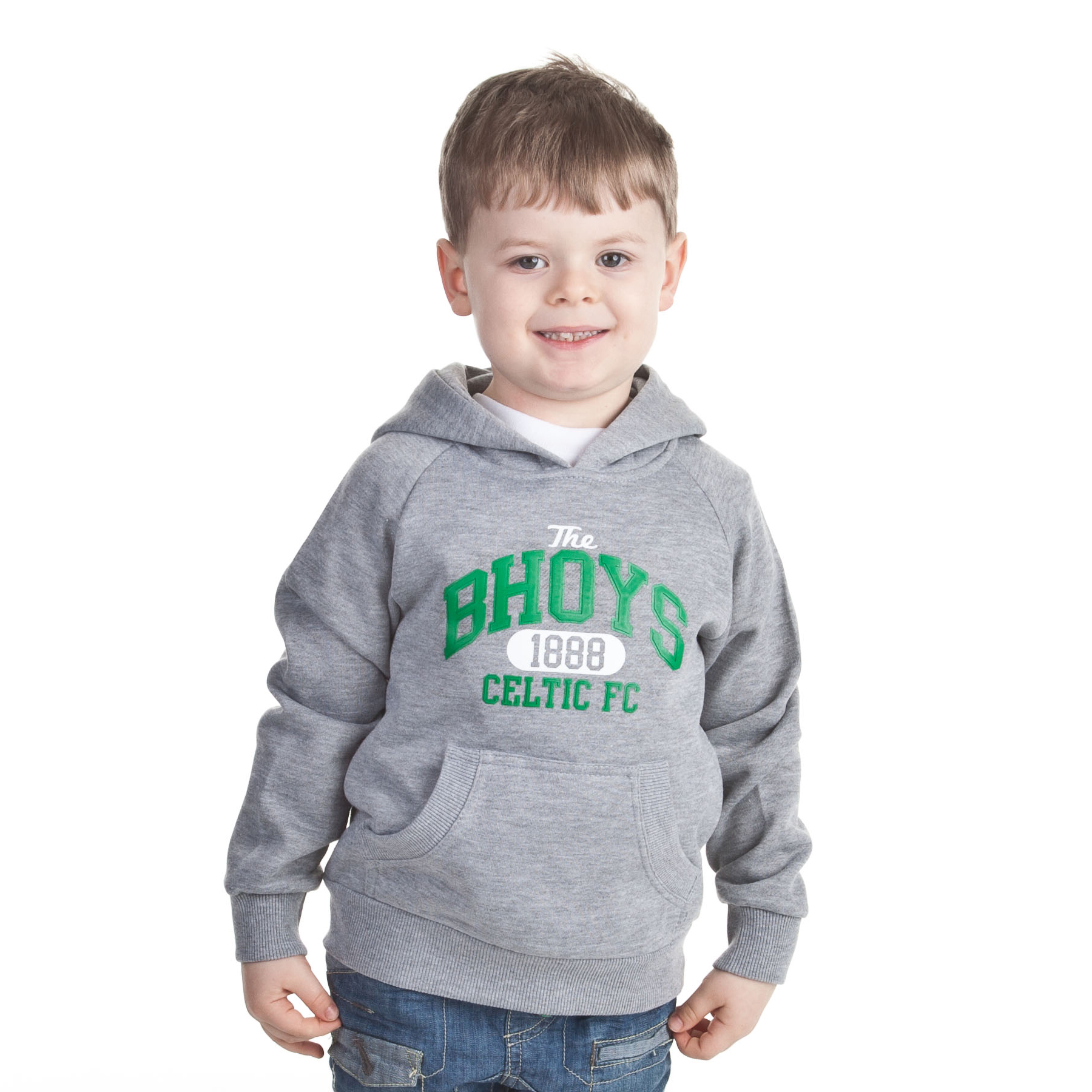 Celtic Essentials The Bhoys Graphic Hoody - Grey Marl - Boys