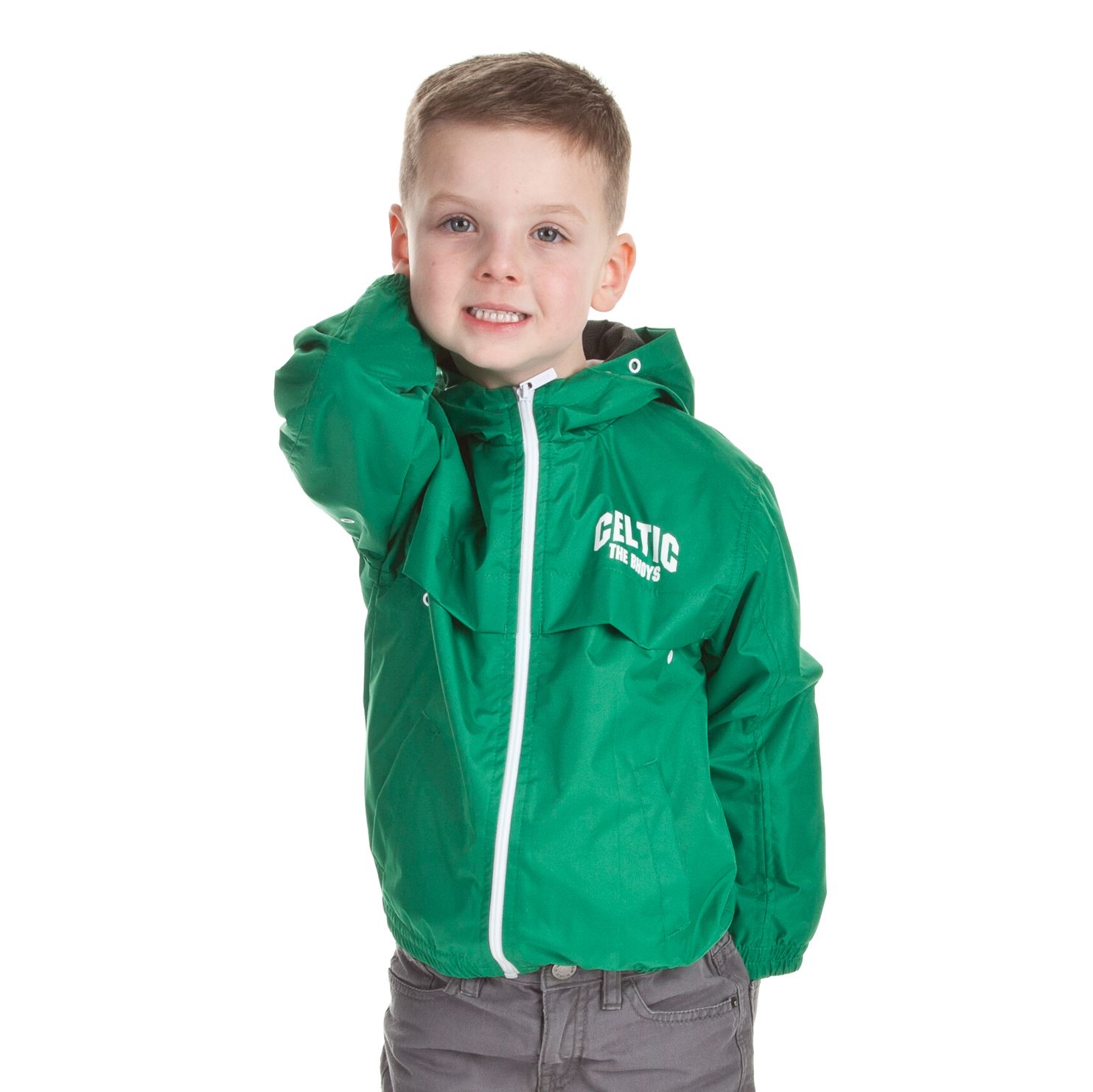 Celtic Essentials The Bhoys Hooded Shower Jacket - Tiller Green - Boys