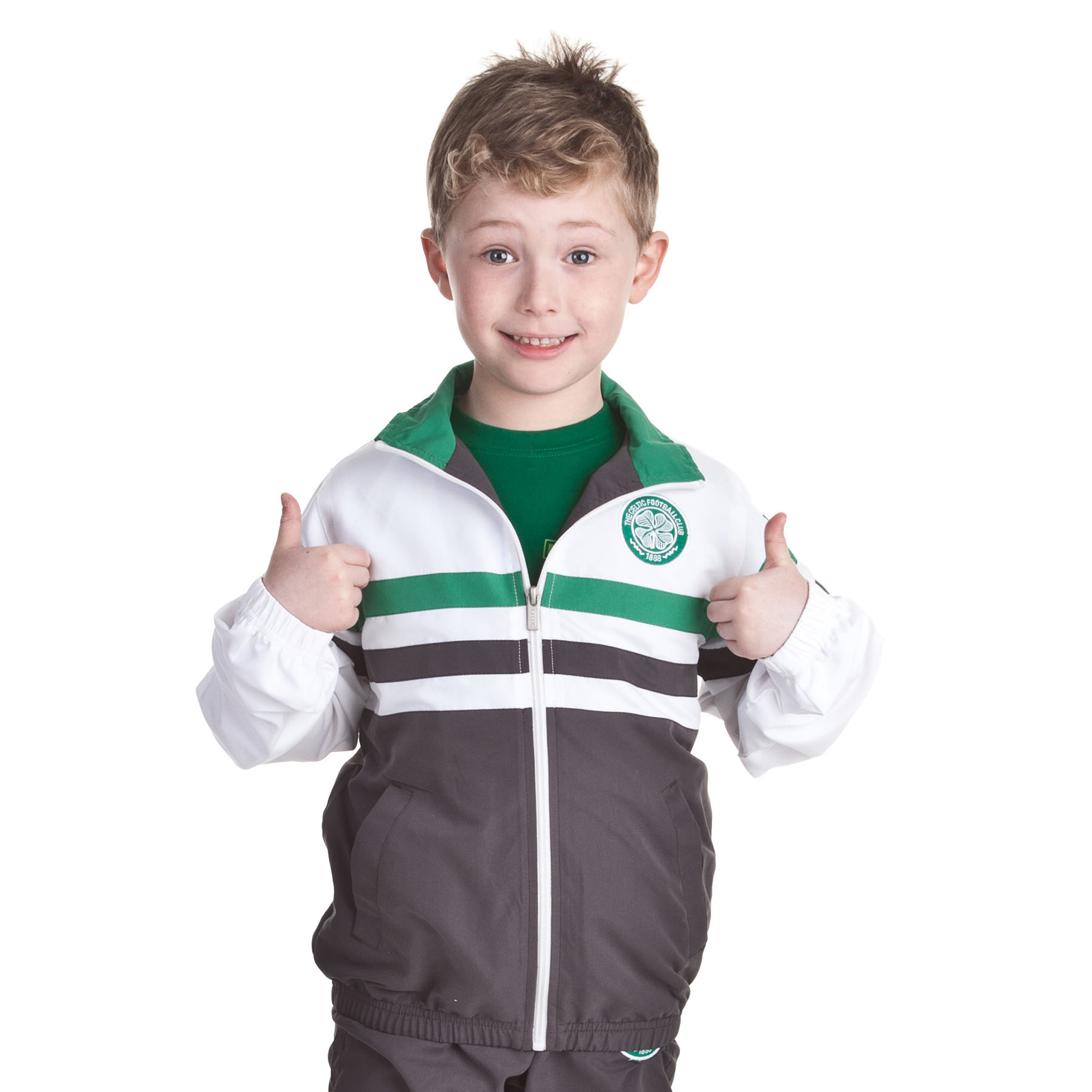 Celtic Essentials Paneled Track Suit - Carbon - Boys