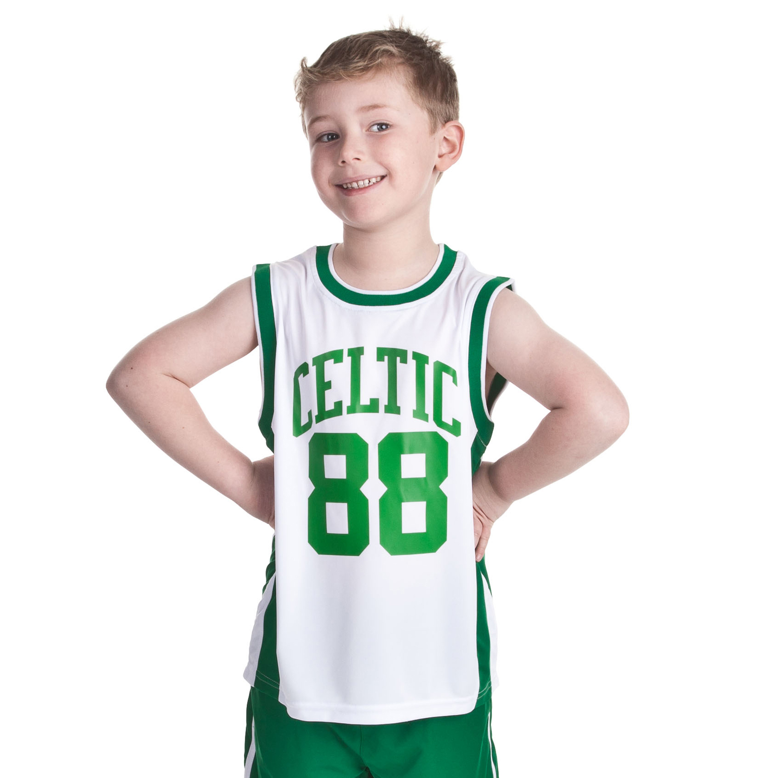Celtic Essentials 88 Graphic Vest - White - Boys